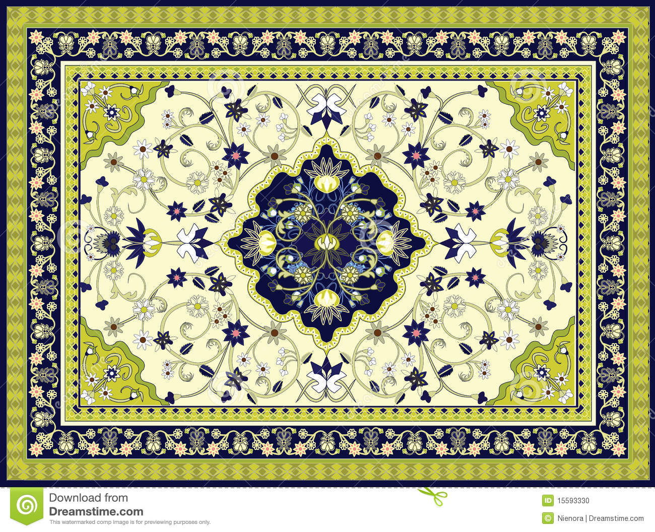 Vector Carpet Stock Photo Image 15593330