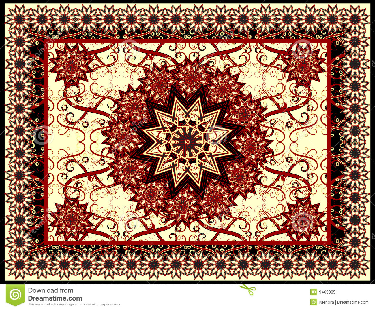Traditional Islamic Pattern Vector Carpet Royalty Free Stock Photo