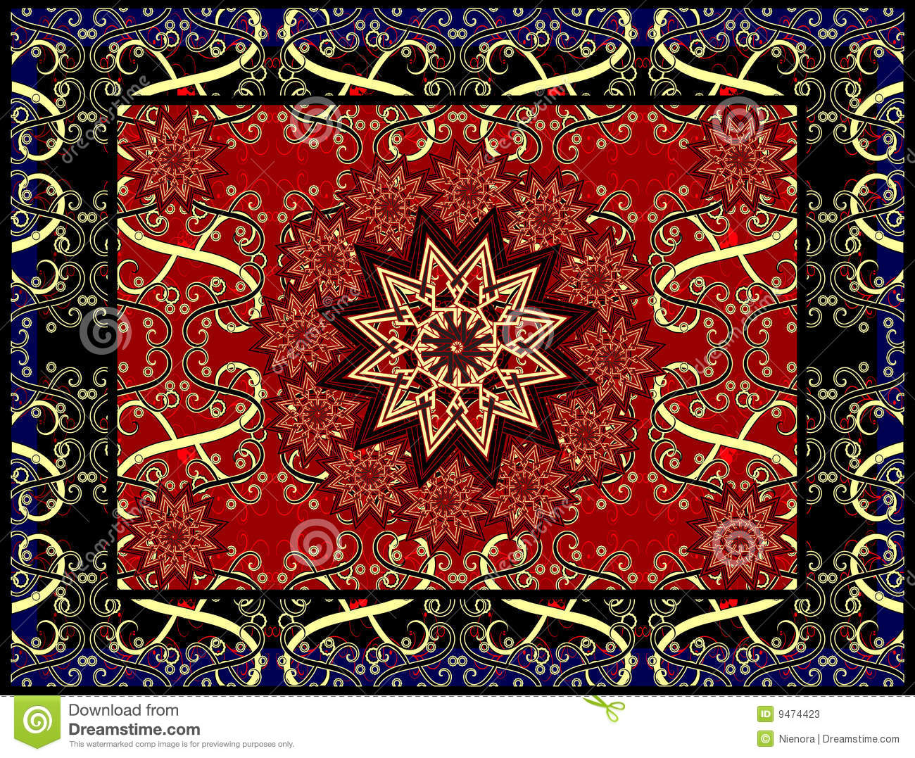 Vector Carpet Stock Photos Image 9474423