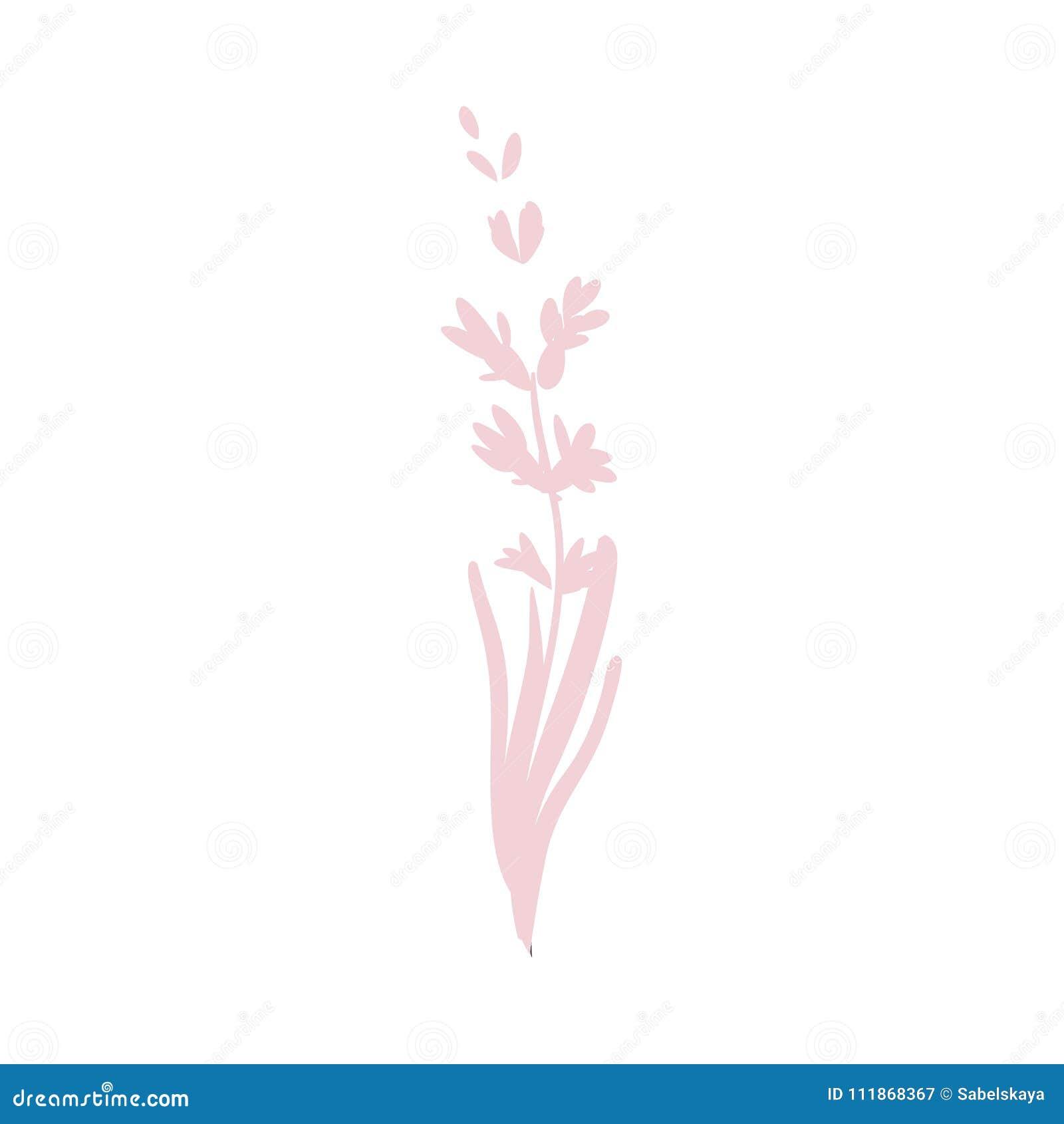 Vector Cartoon Abstract Pink Flower Icon Stock Vector Illustration