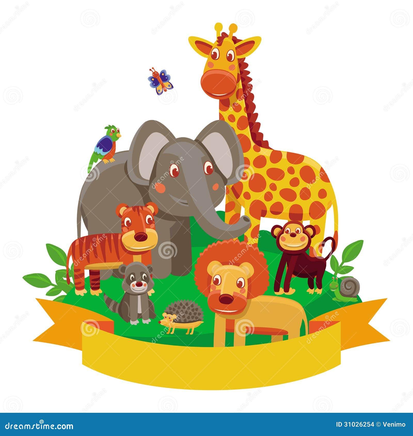 Vector Cartoon Animals - Zoo Stock Images - Image: 31026254