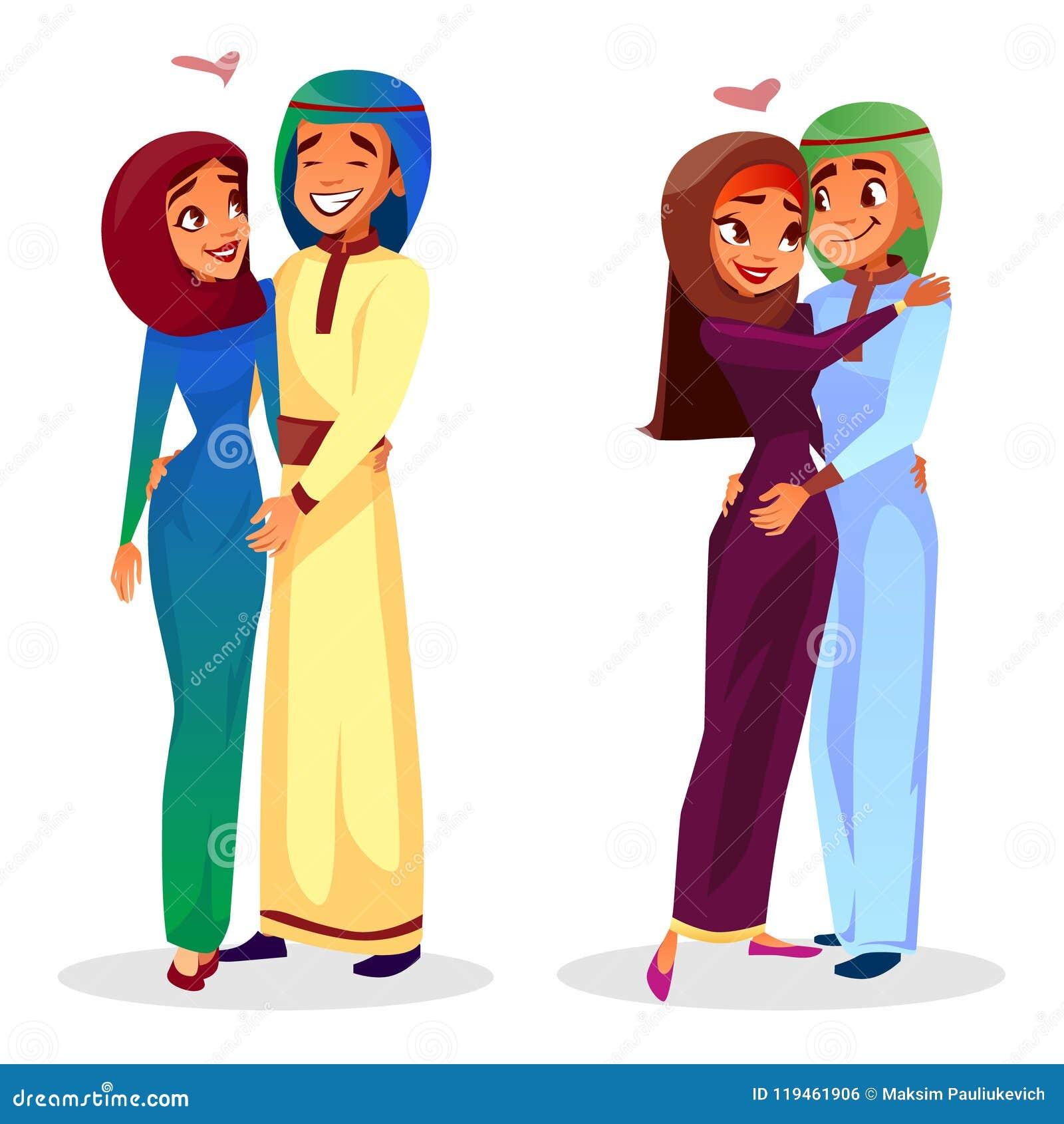 arab sexy girls hug