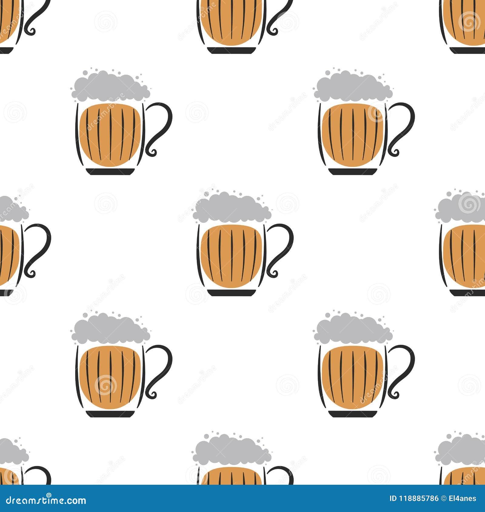 Beer Wallpaper White Stock Vector Illustration Of Light
