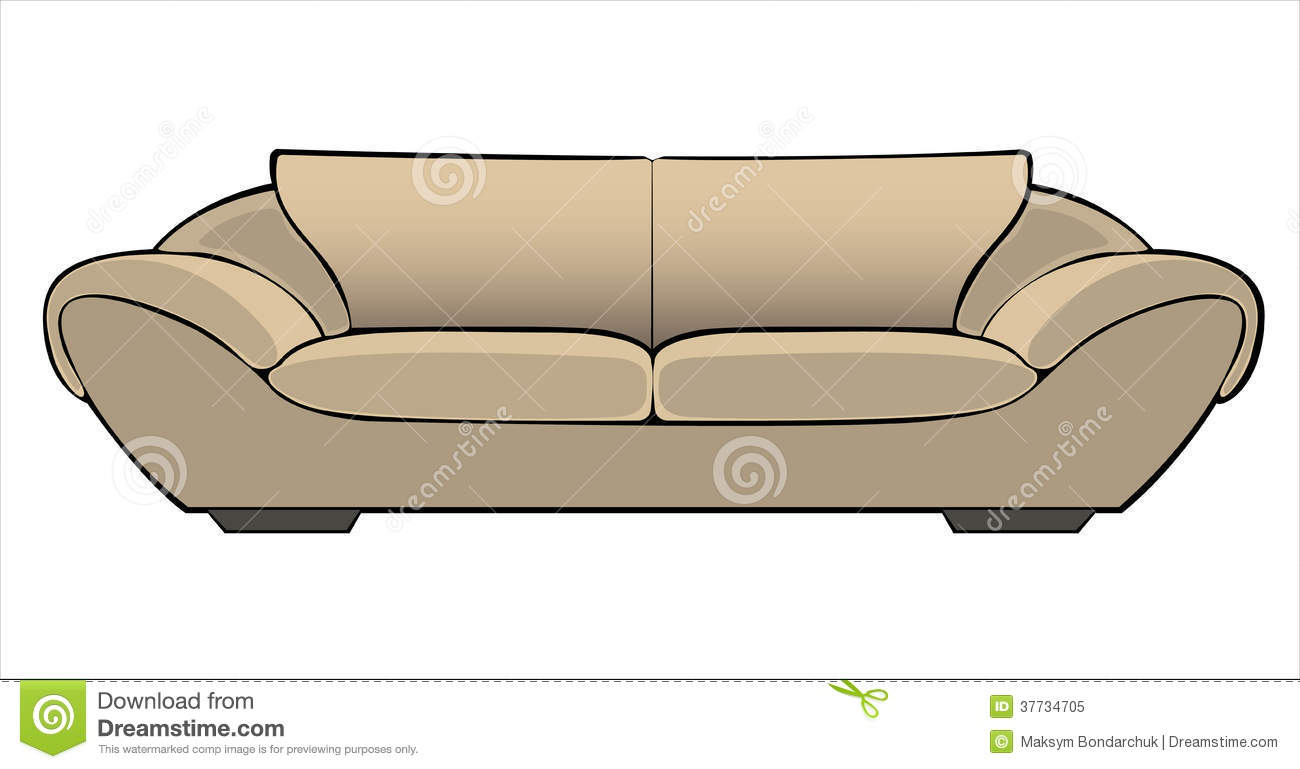 Vector Cartoon Beige Couch Isolated On White Stock Vector  : vector cartoon beige couch isolated white background 37734705 from www.dreamstime.com size 1300 x 769 jpeg 66kB