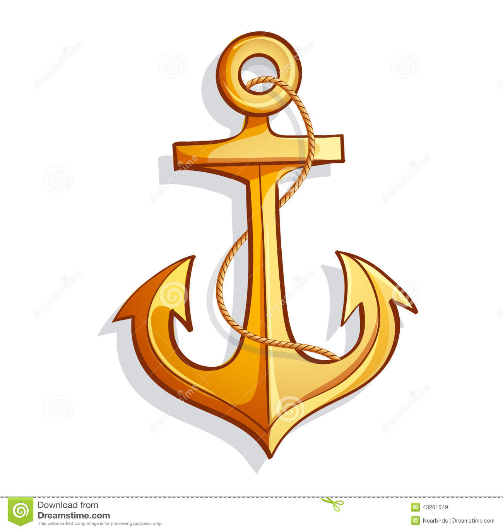 Vector Cartoon Bright ... Navy Symbol Anchor