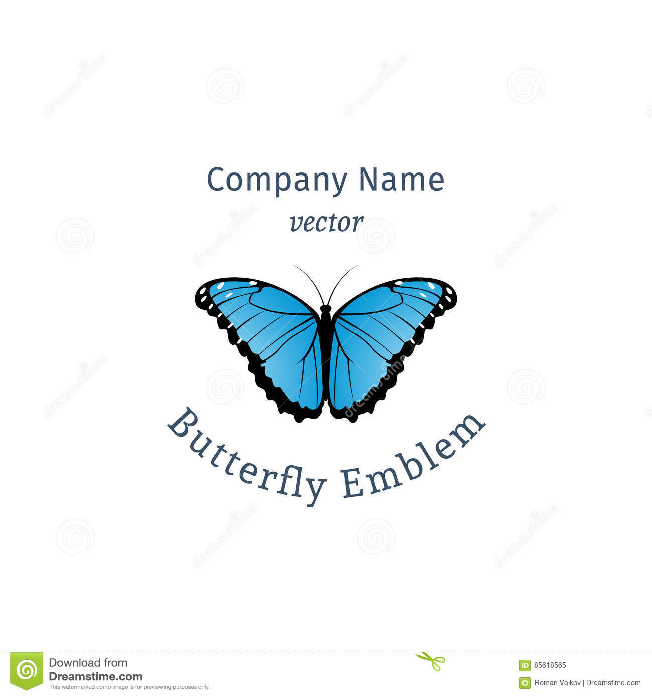 Vector cartoon butterfly emblem stock vector illustration of vector cartoon butterfly emblem biocorpaavc Image collections