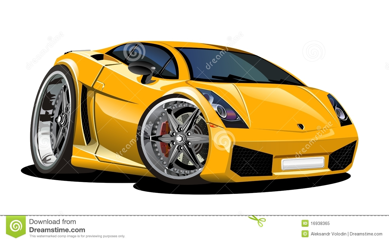 Vector Cartoon Car Lamborgini Editorial Image Illustration Of Alloy Drive 16938365