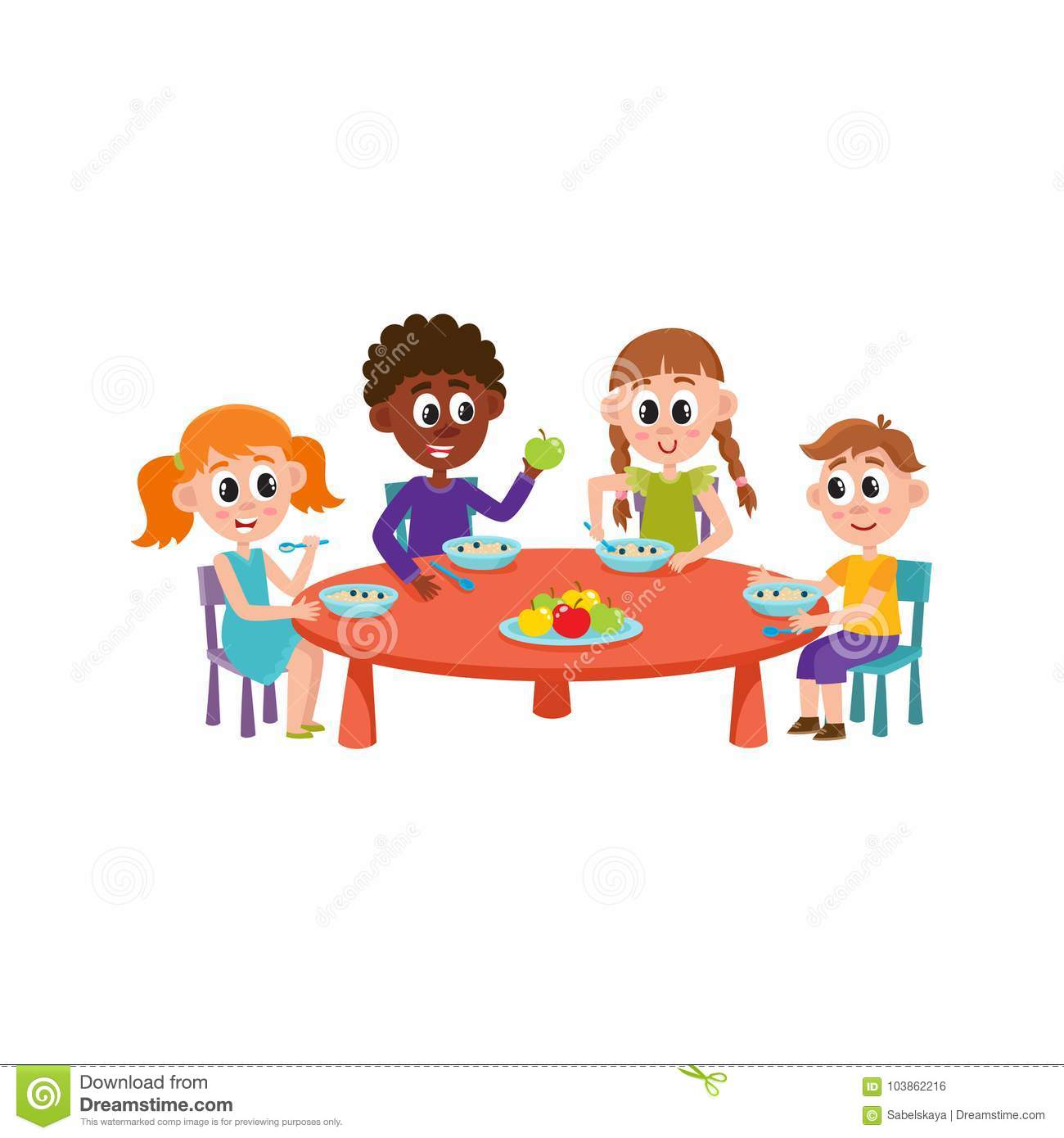 vector children sitting at table eating at camp stock free clipart restaurant pictures free clipart restaurant pictures