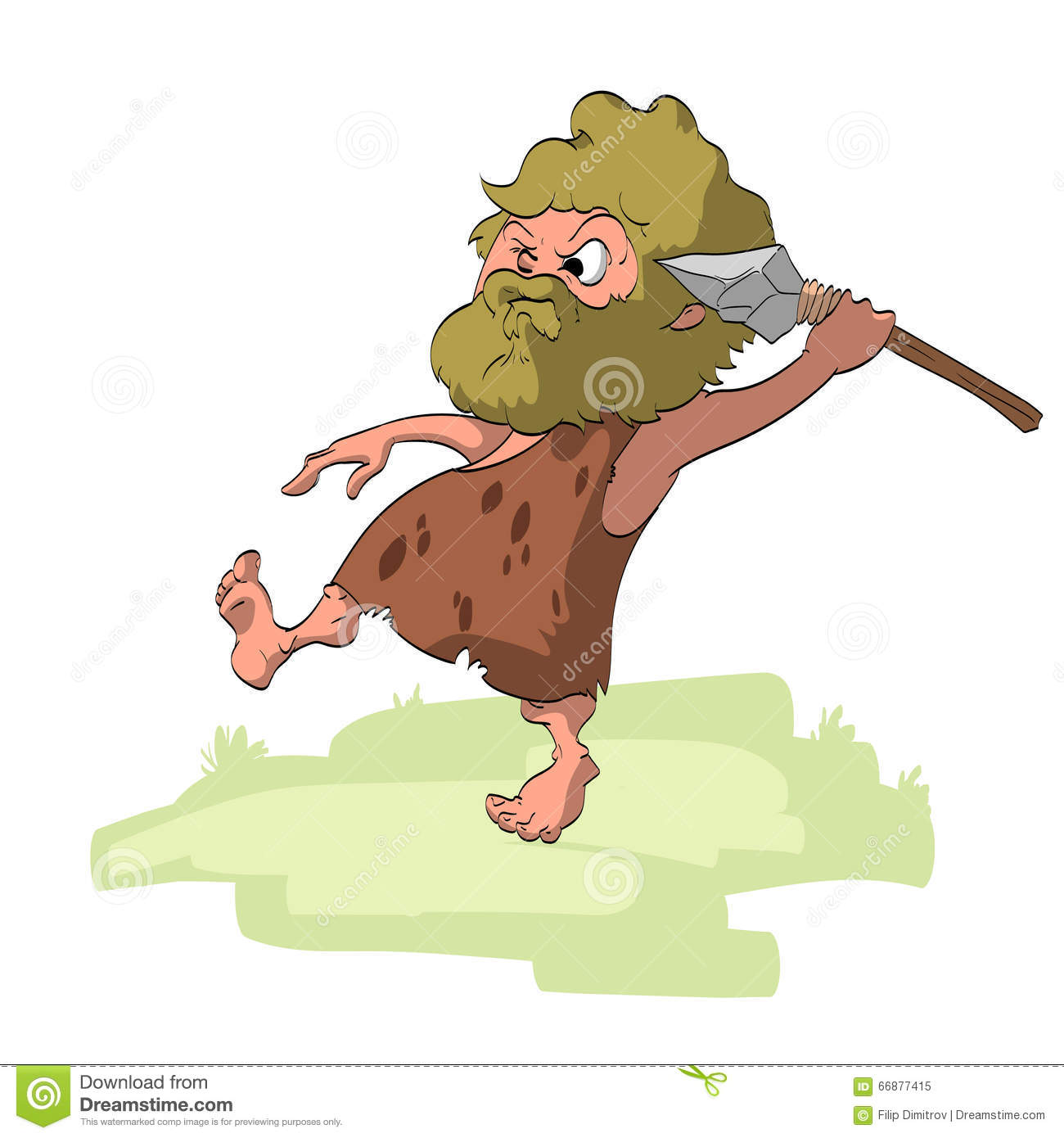 vector hunting hunter with prey cartoon illustration caveman clipart transparent caveman clipart outline