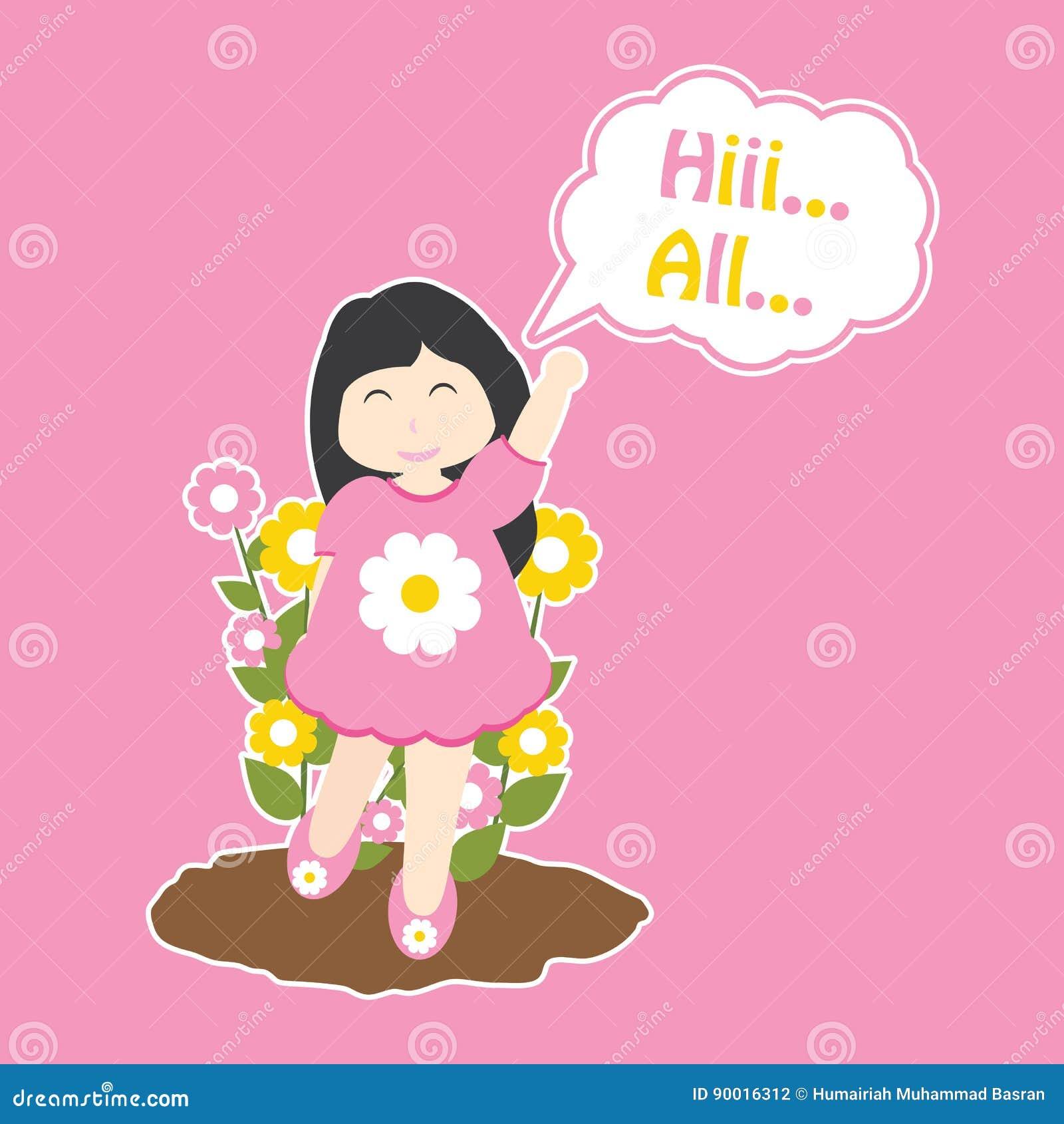 Girl Say Hi Stock Illustrations – 27 Girl Say Hi Stock Illustrations