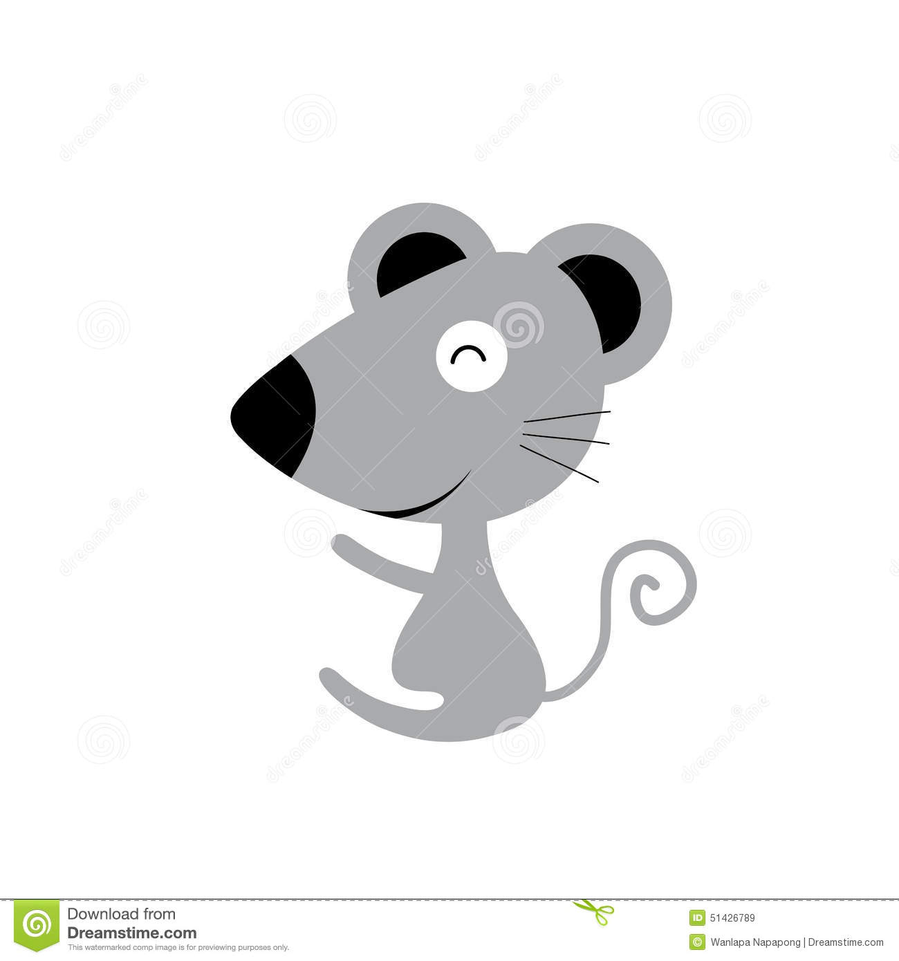 Vector cartoon cute mouse stock vector. Image of gesturing ...