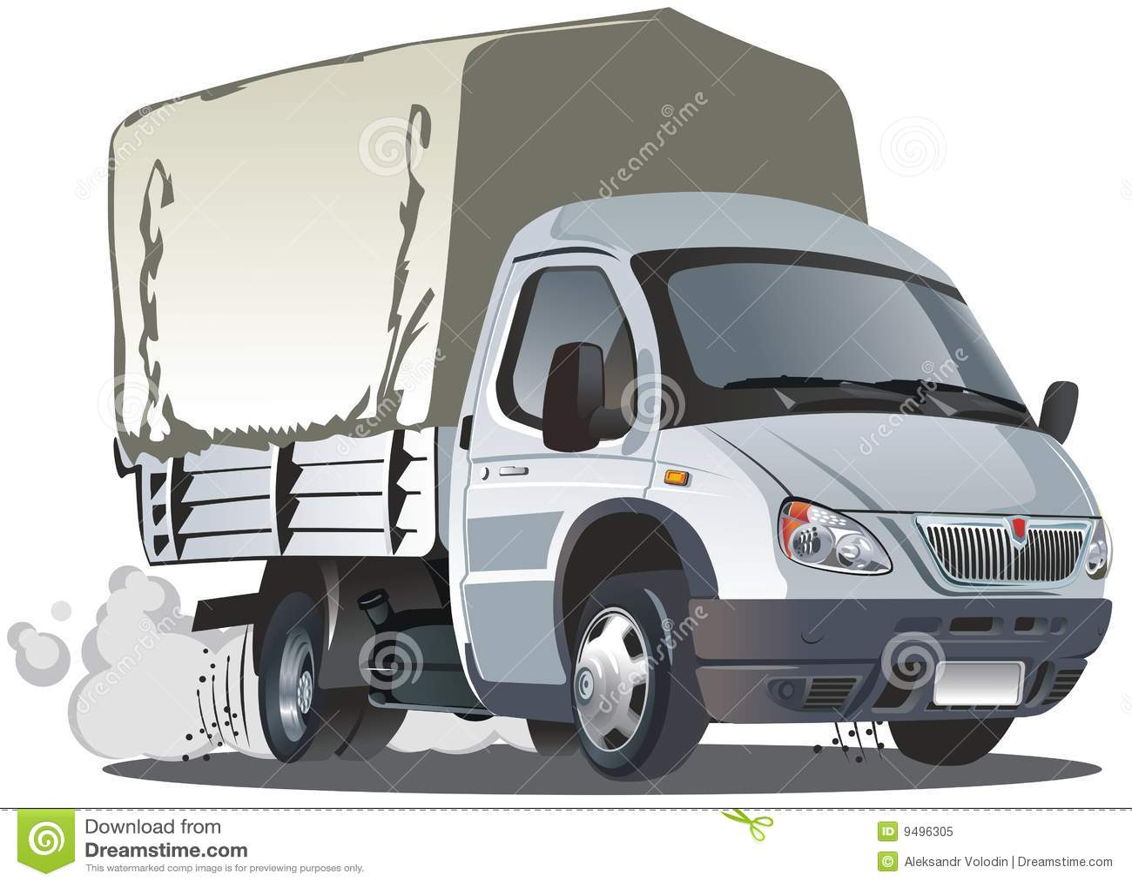 Vector Cartoon Delivery / Cargo Truck Stock Vector ...