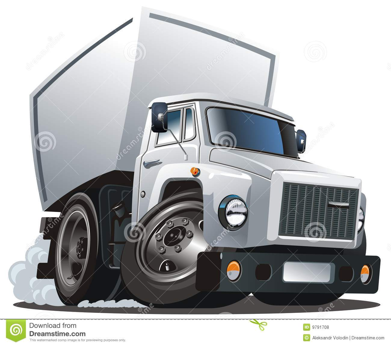 Vector Cartoon Delivery / Cargo Truck Royalty Free Stock ...