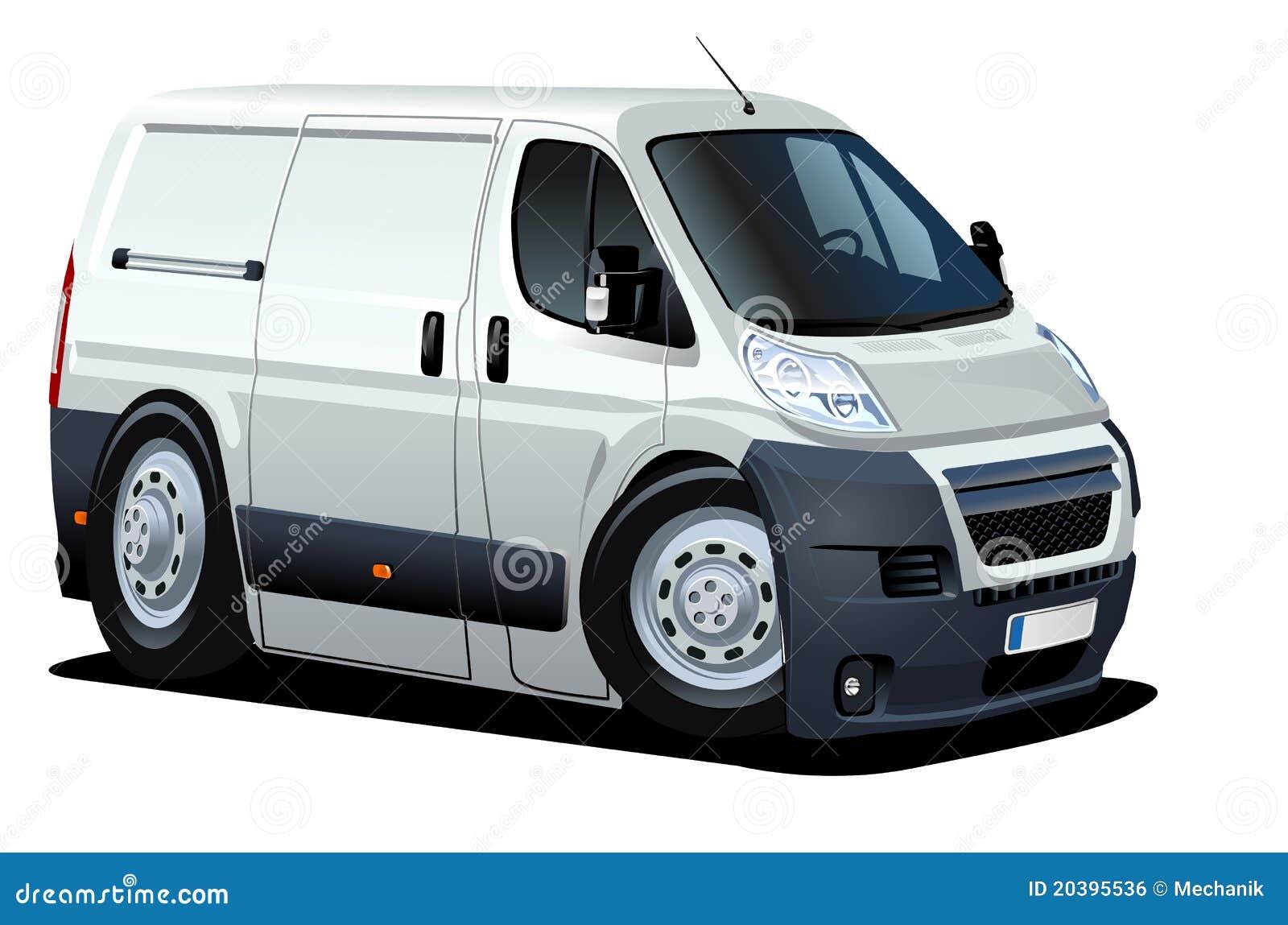 Vector Cartoon Delivery / Cargo Van Royalty Free Stock ...