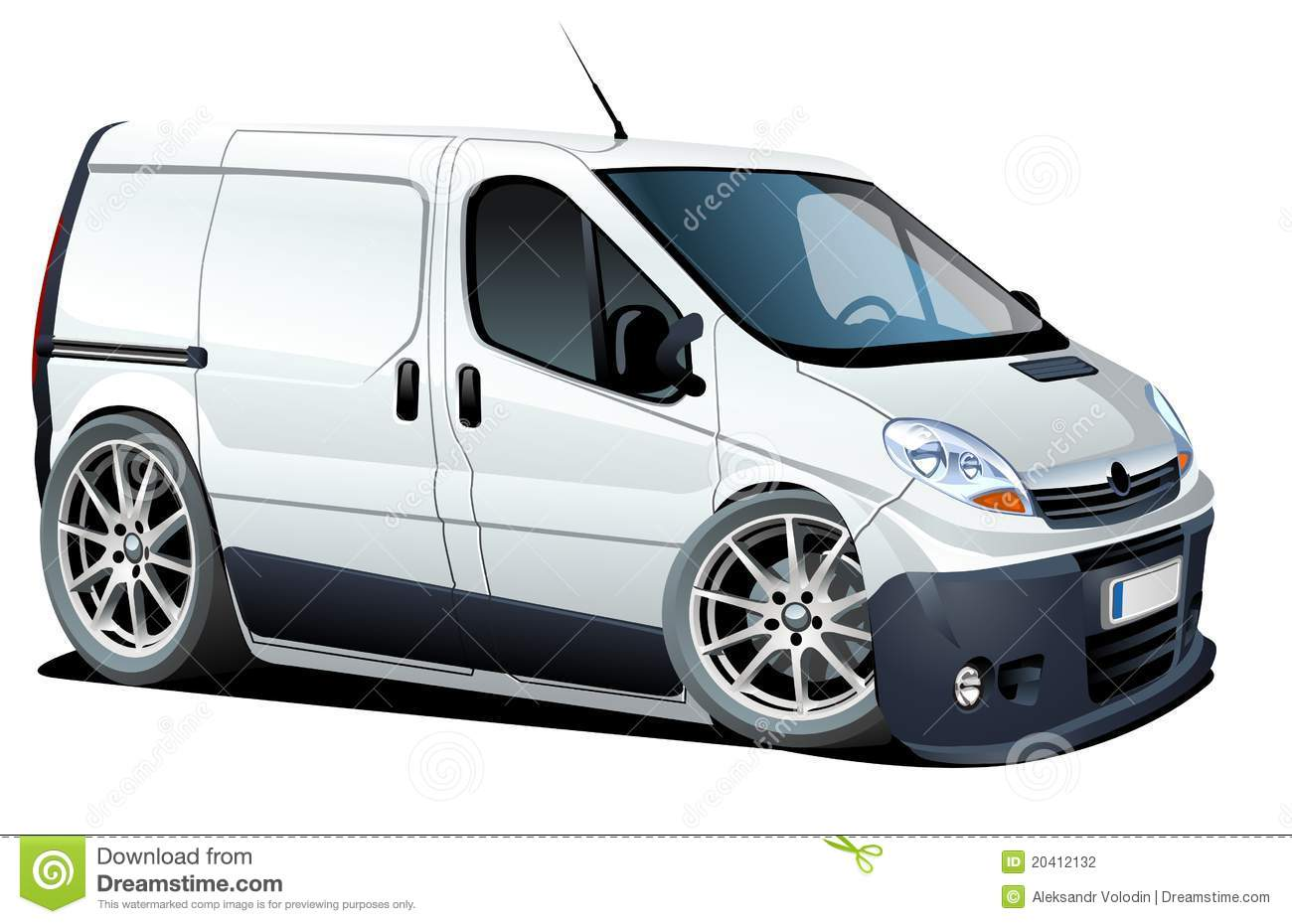 Vector cartoon delivery / cargo van. Available ai-10 format separated ...
