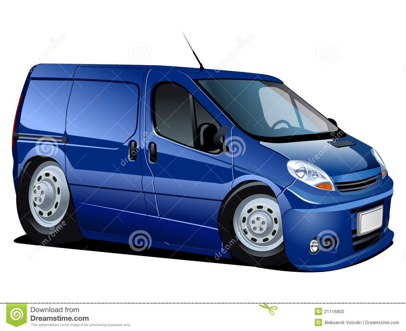 Vector Cartoon Delivery Van Stock Vector - Image: 21116800