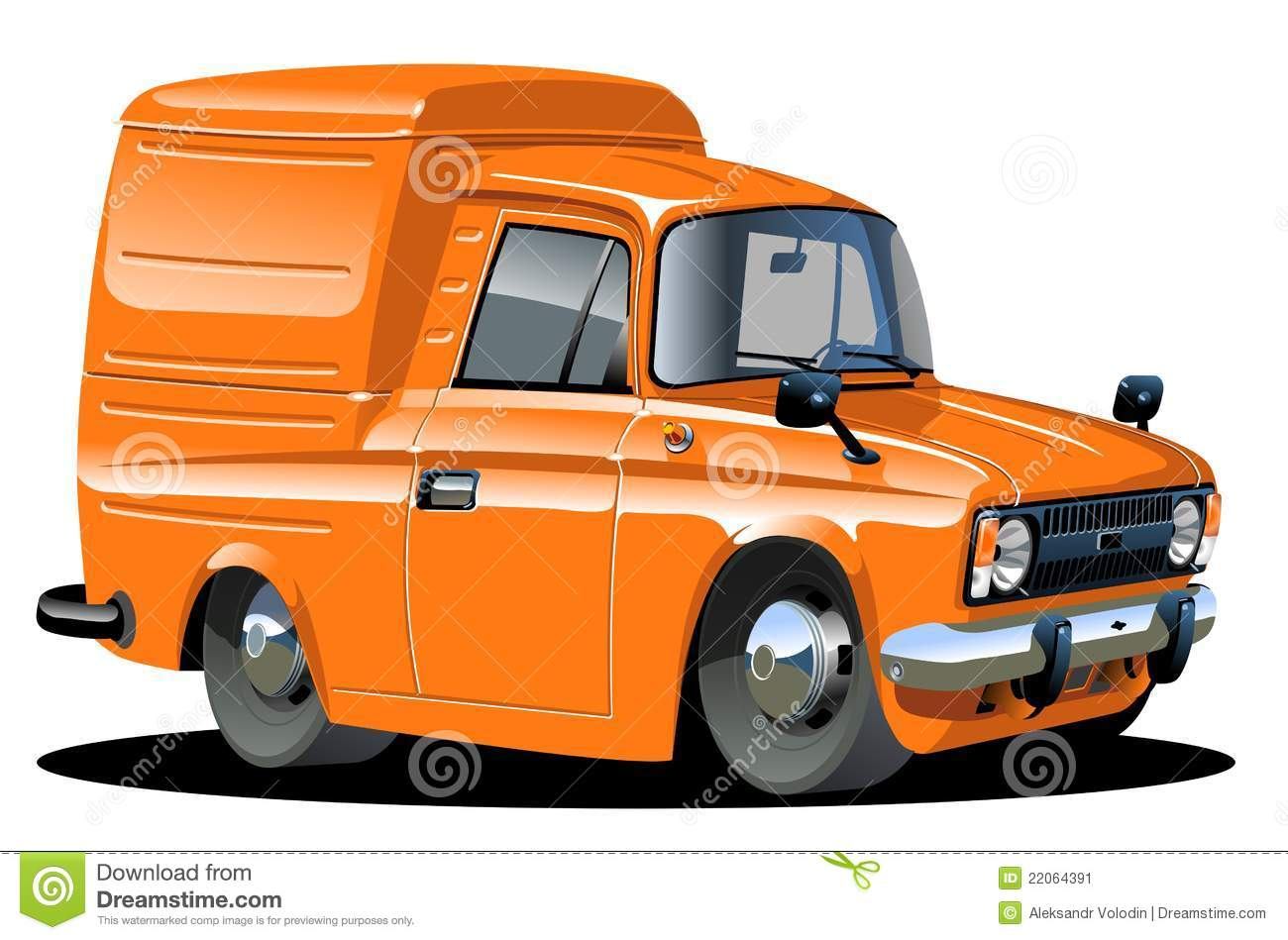 Vector Cartoon Delivery Van Stock Vector - Image: 22064391