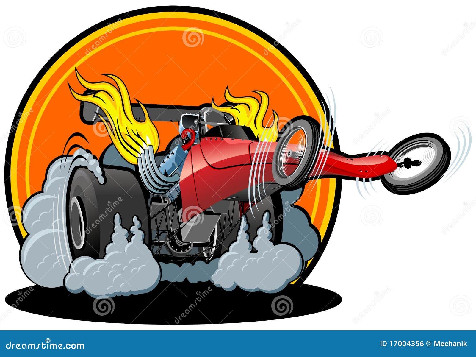 Vector Cartoon Dragster Stock Vector Illustration Of