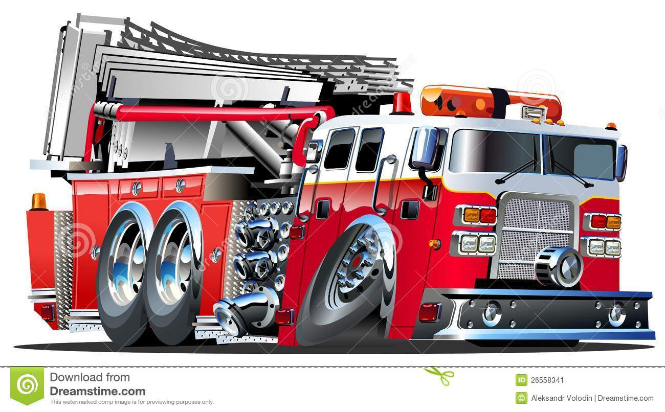 Vector Cartoon Fire Truck Lowroder. Available AI-10, vector format ...