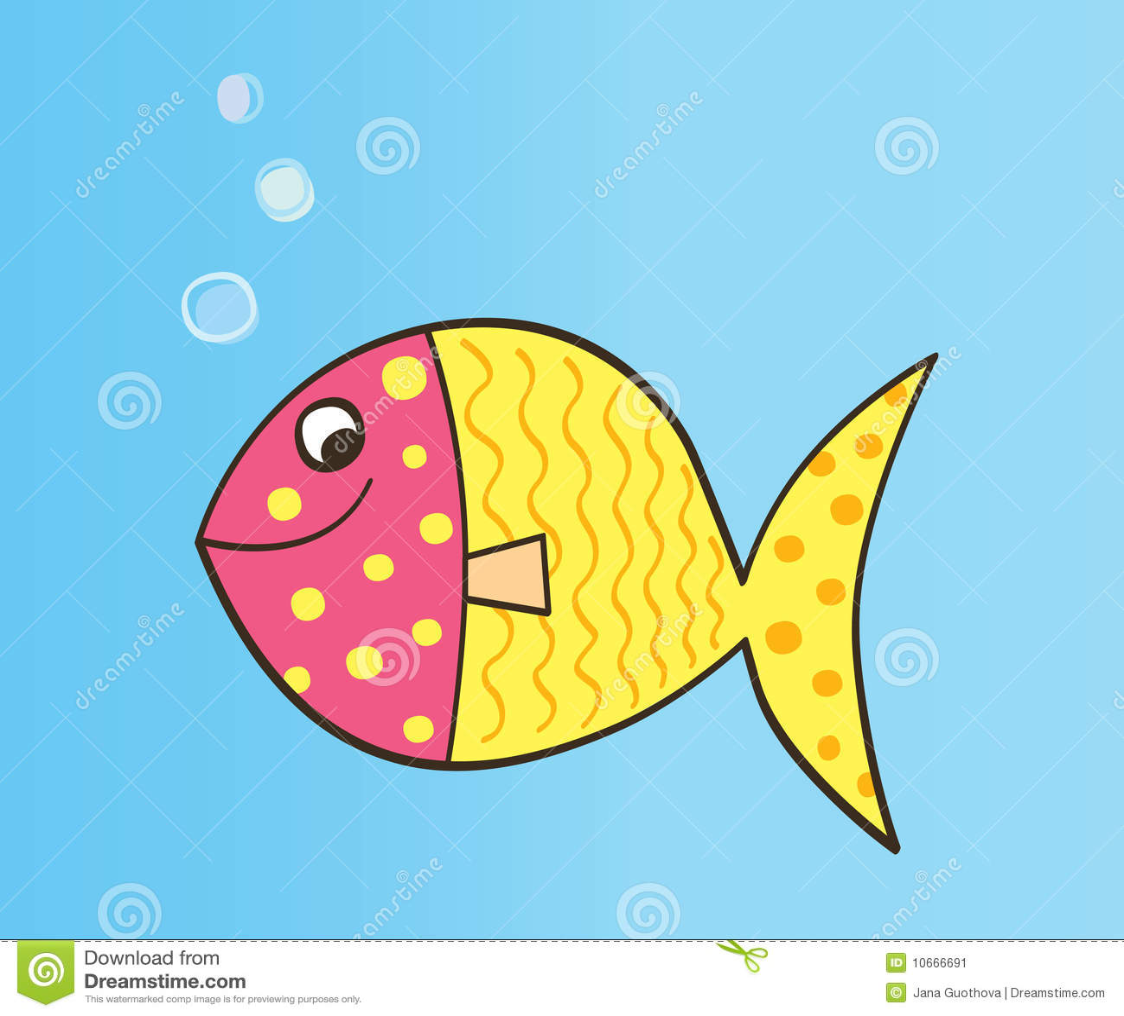 Vector Cartoon Fish St...
