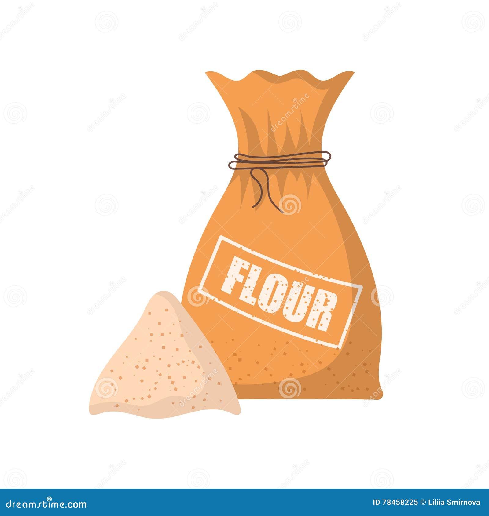 flour bag vector illustration cartoon vector 83063391. Black Bedroom Furniture Sets. Home Design Ideas