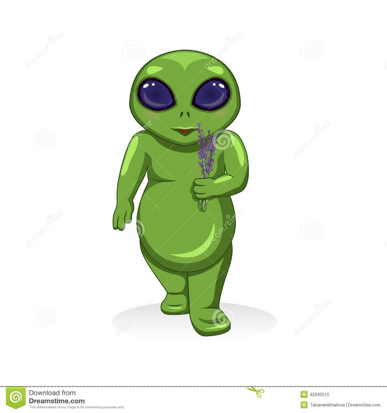 Cartoon Characters Green : Vector cartoon green alien extraterrestrial stock
