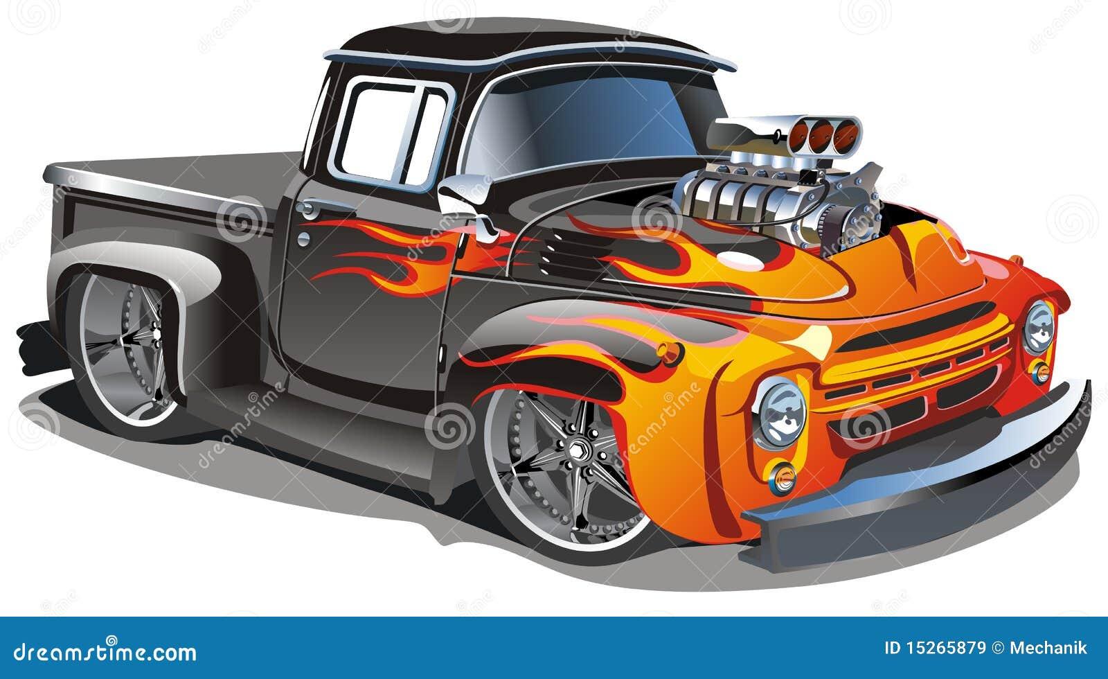 Download Vector cartoon hot-rod stock vector. Illustration of classic - 15265879