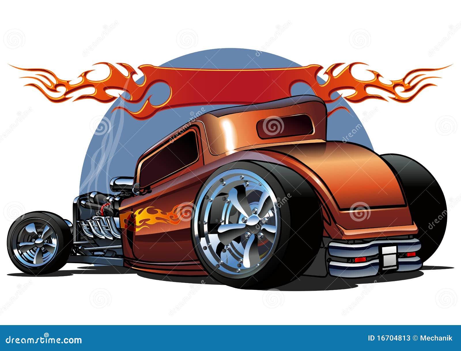 Vector Cartoon Hotrod Stock Photos Image 16704813