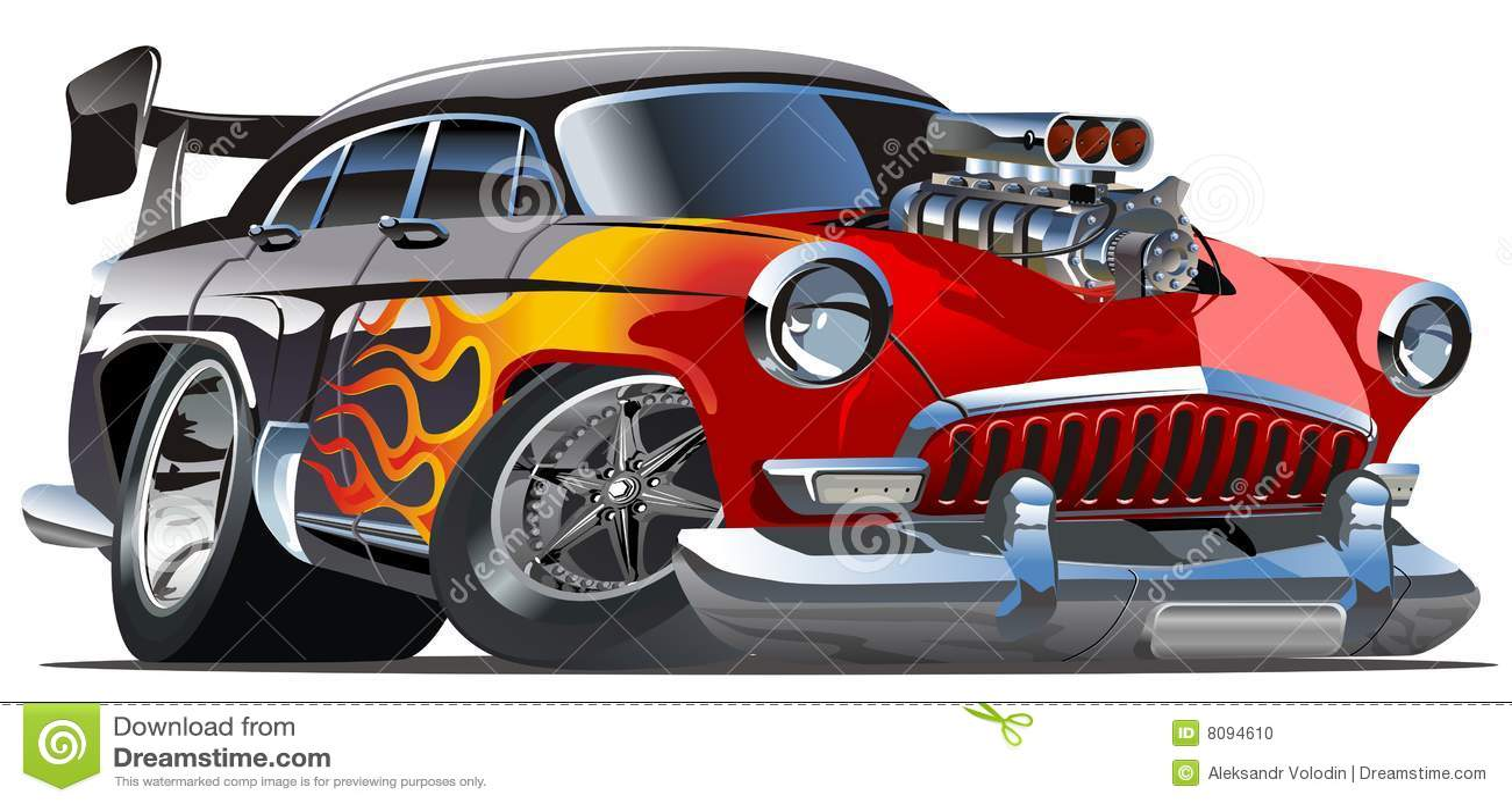 Vector Cartoon Hotrod Volga 21 Stock Vector Illustration