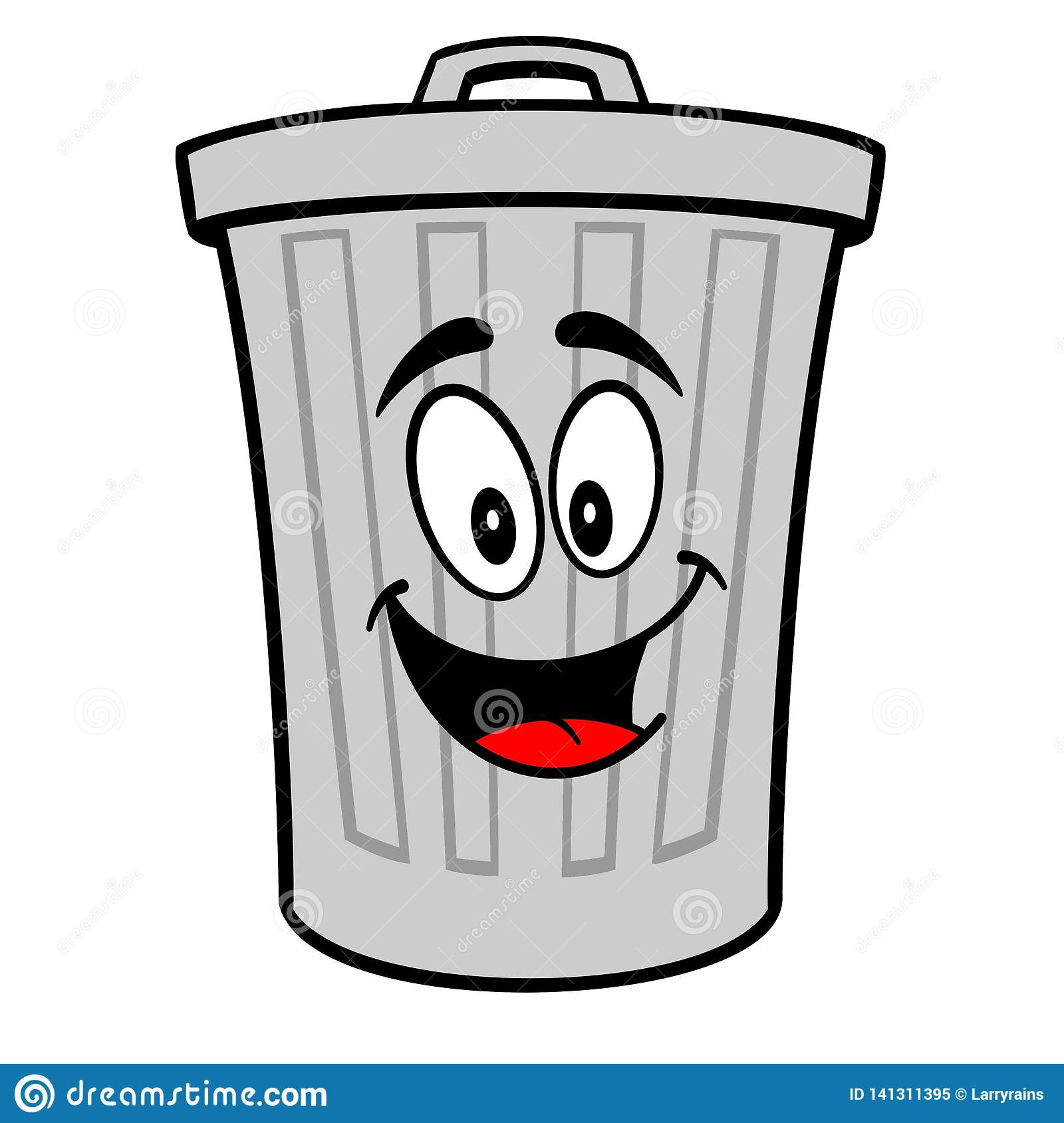 Trash Can Mascot Stock Vector Illustration Of Recycling 141311395