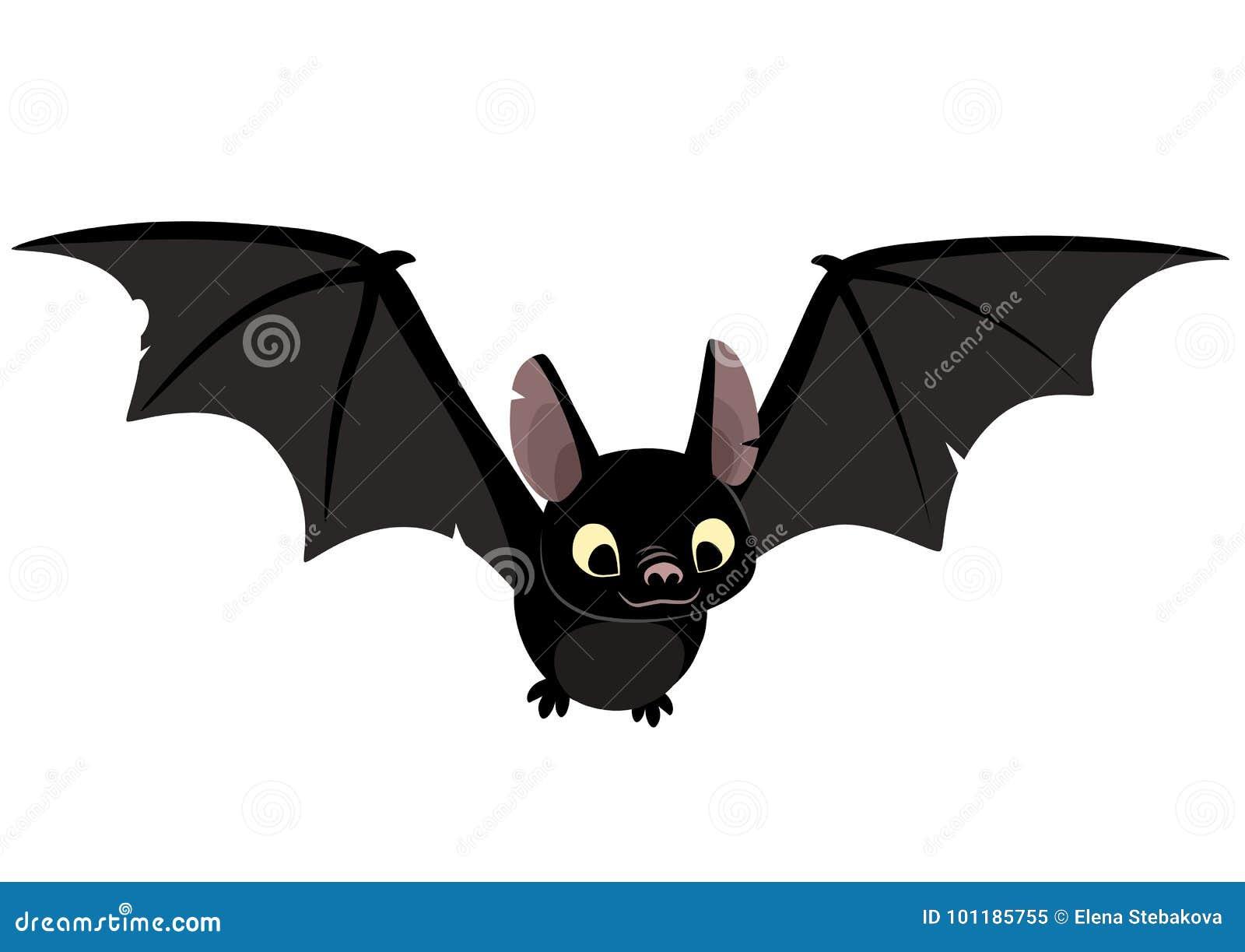 A Picture Of A Cartoon Bat vector cartoon illustration of cute friendly black bat