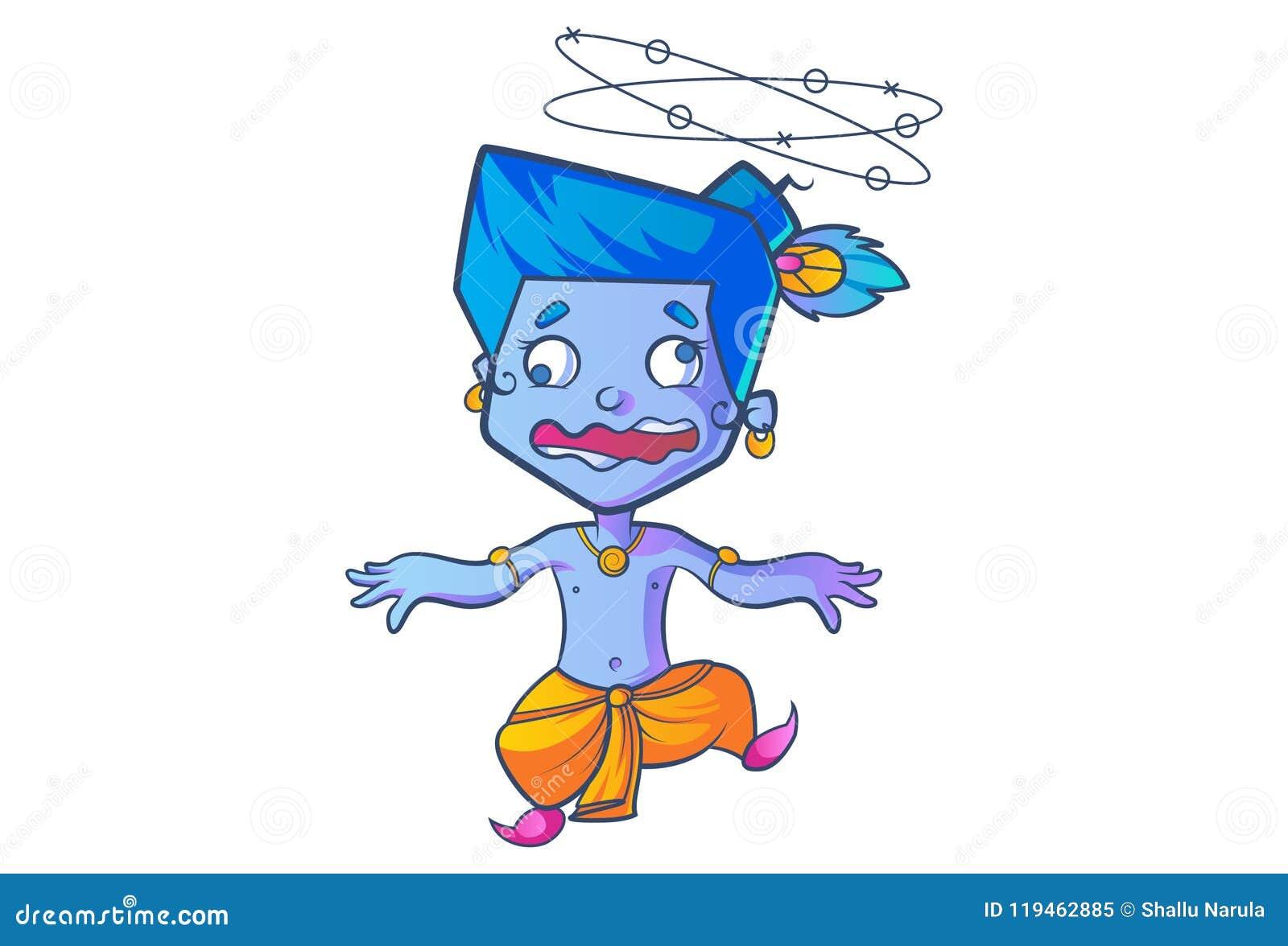 Cute Lord Krishna stock vector  Illustration of cutness