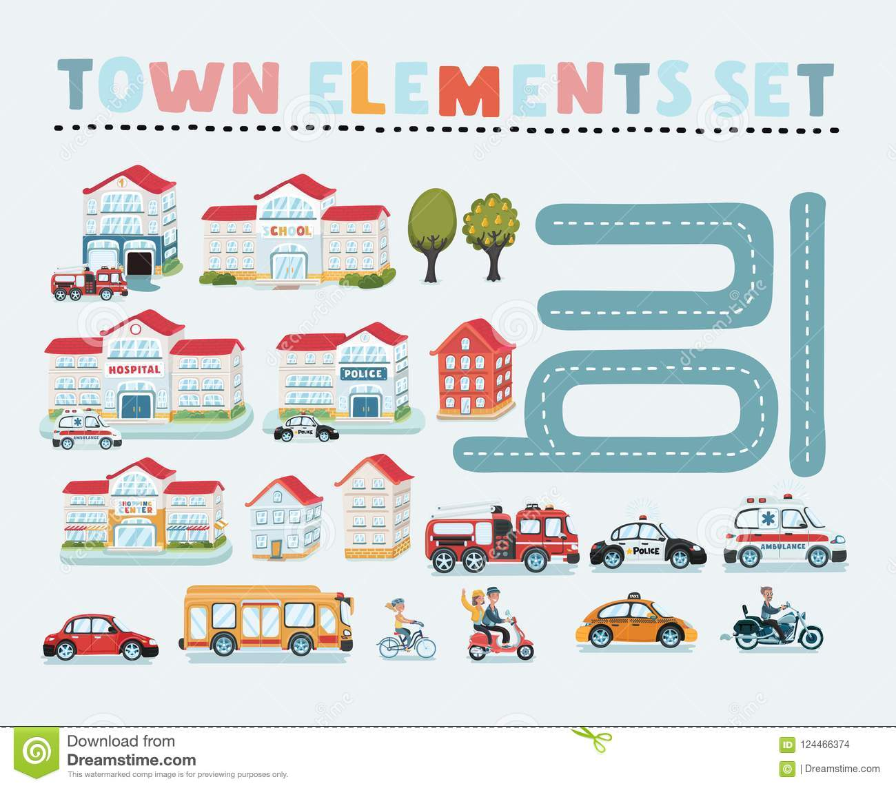 Map Elements For Your Pattern, Info-graphic, Web Site Or Other Type on