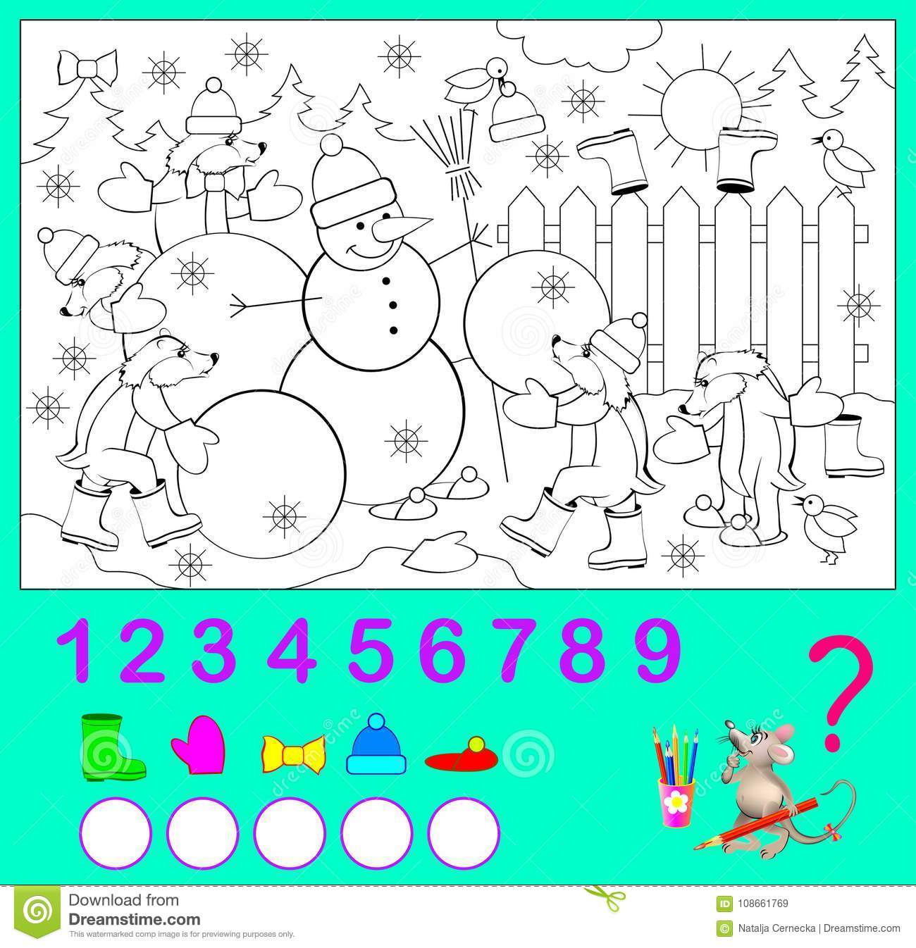 Logic Exercise For Children. How Many Objects You Can Find The In ...