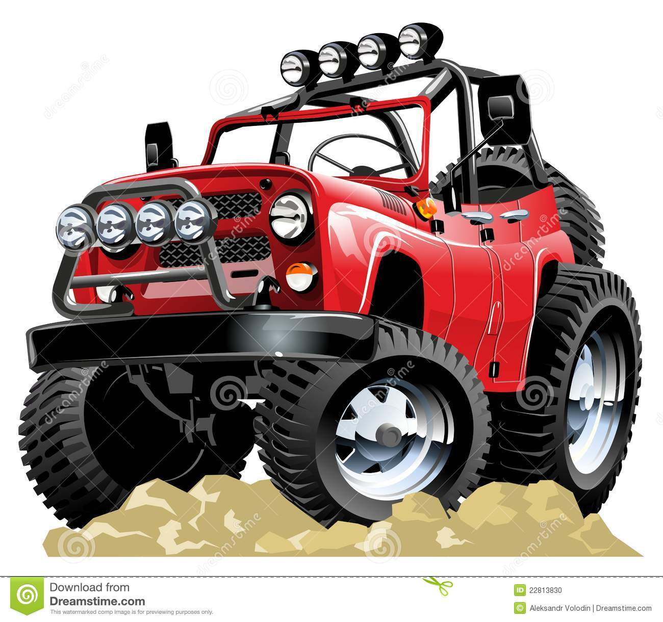 vector cartoon jeep stock vector  image of safari  pick