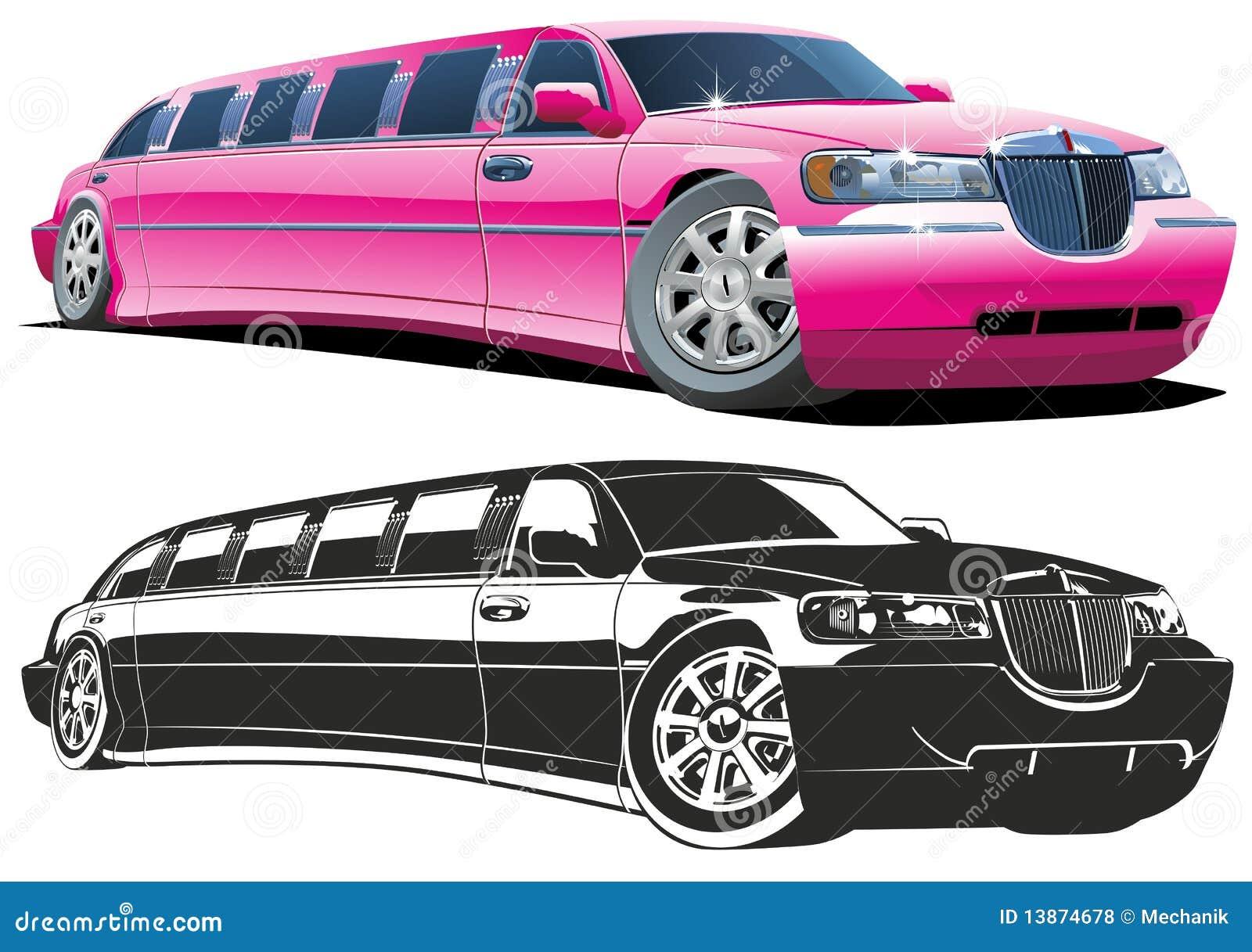 Vector Cartoon Limousine Royalty Free Stock Photos Image