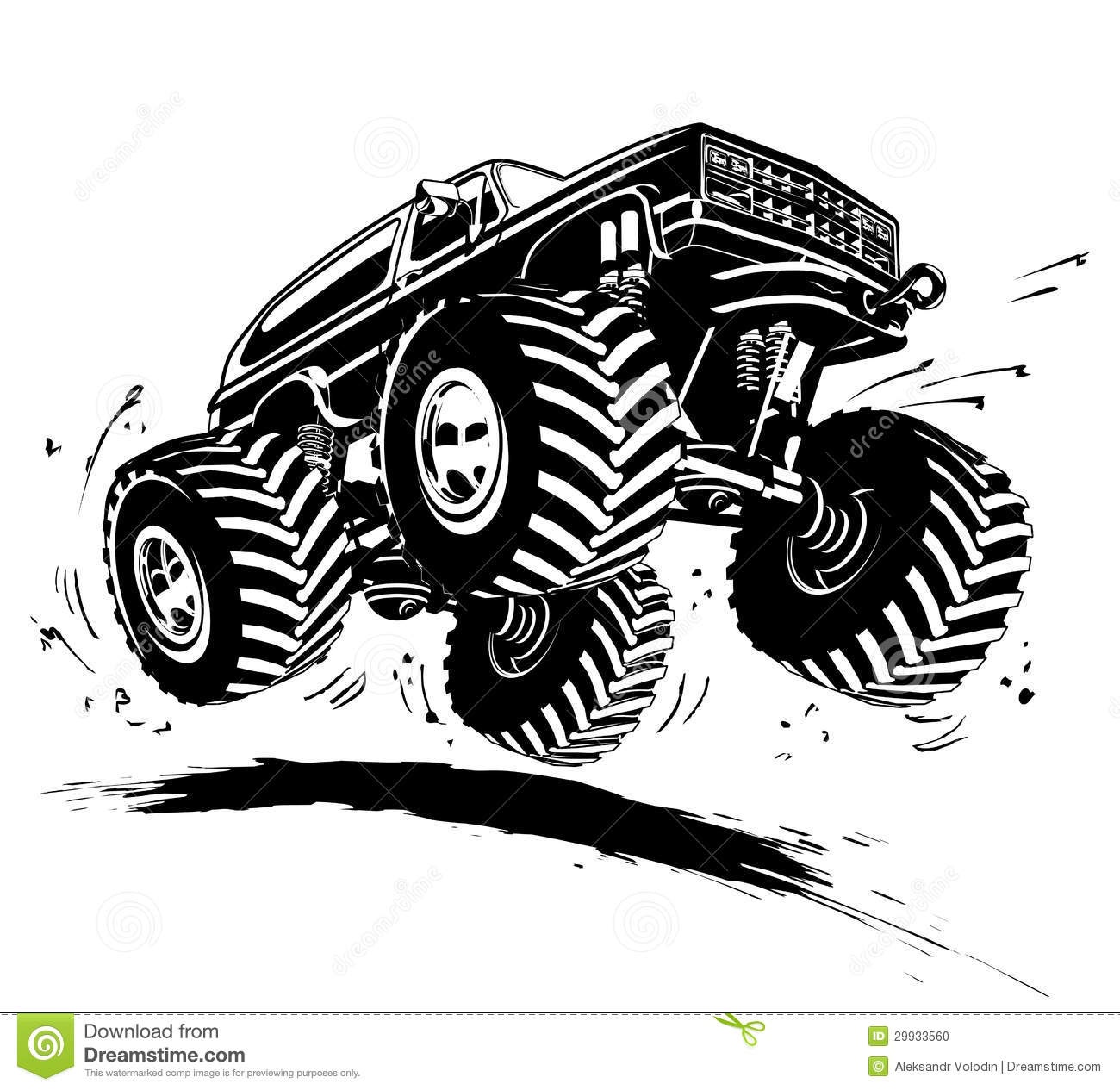 Vector Cartoon Monster Truck. Available EPS-8 vector format.