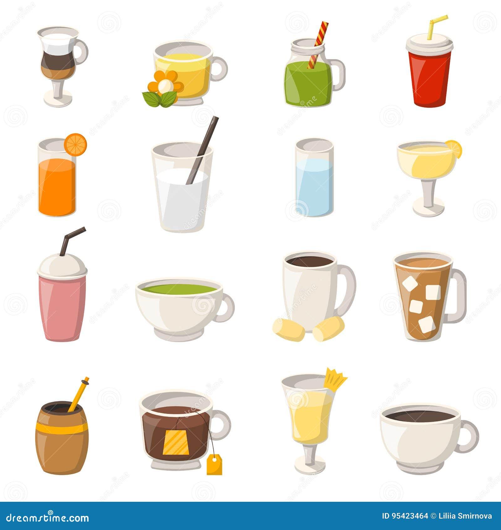 vector cartoon non alcoholic drinks stock vector illustration of rh dreamstime com cartoon drinking water cartoon drinking