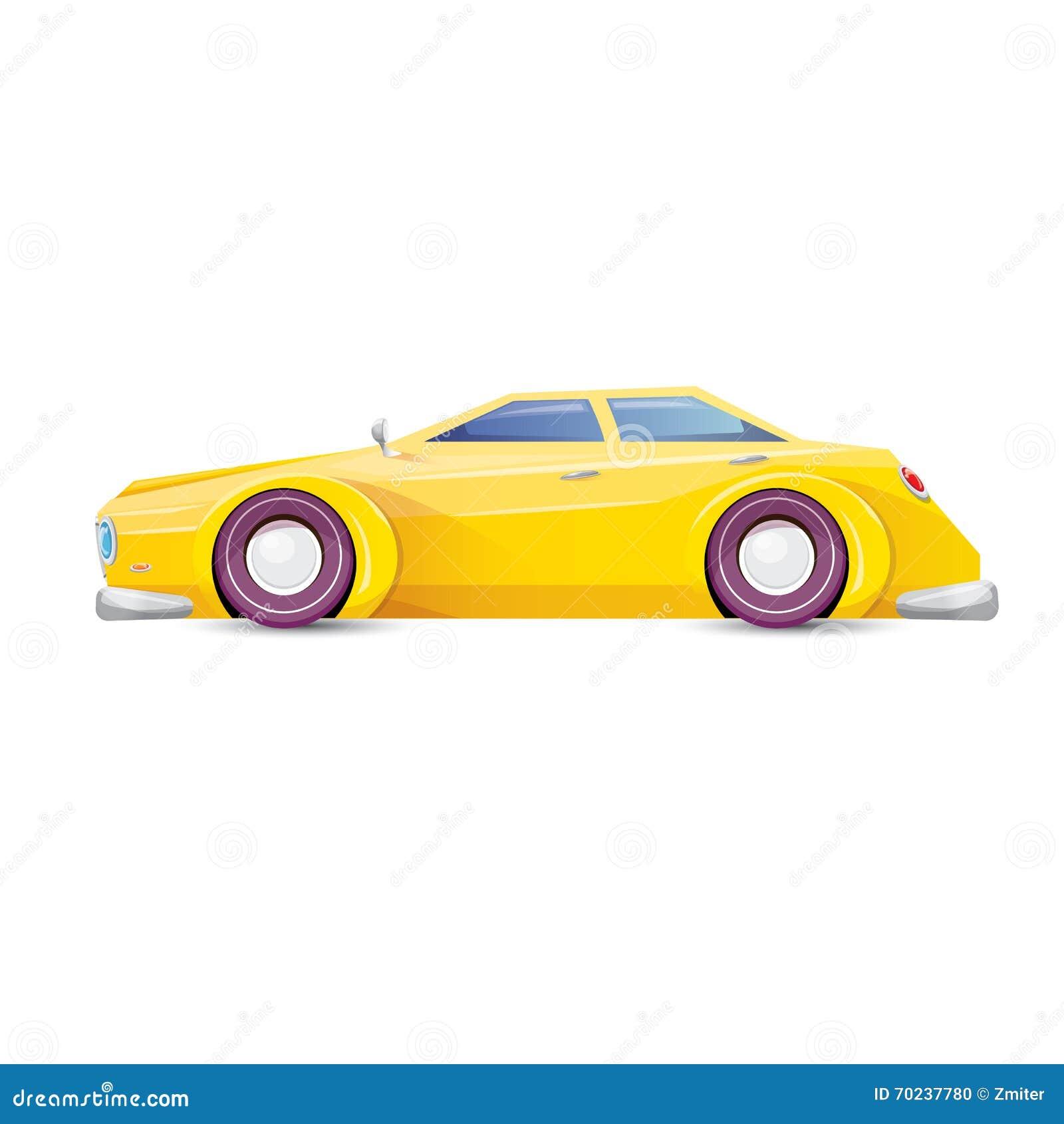 vector cartoon orange car on white vector illustration 70237780. Black Bedroom Furniture Sets. Home Design Ideas