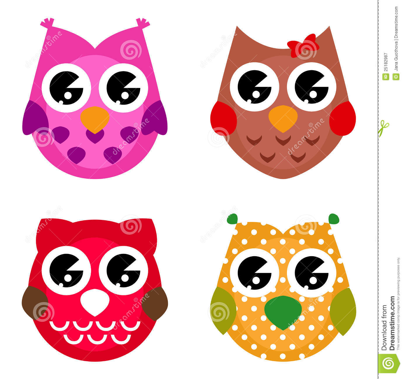 colorful cute owl vector - photo #29