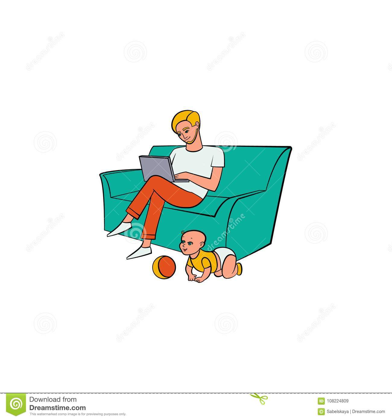 Adult work from home