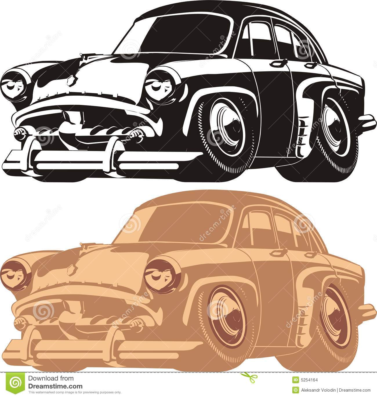 Old car silhouette vector 16