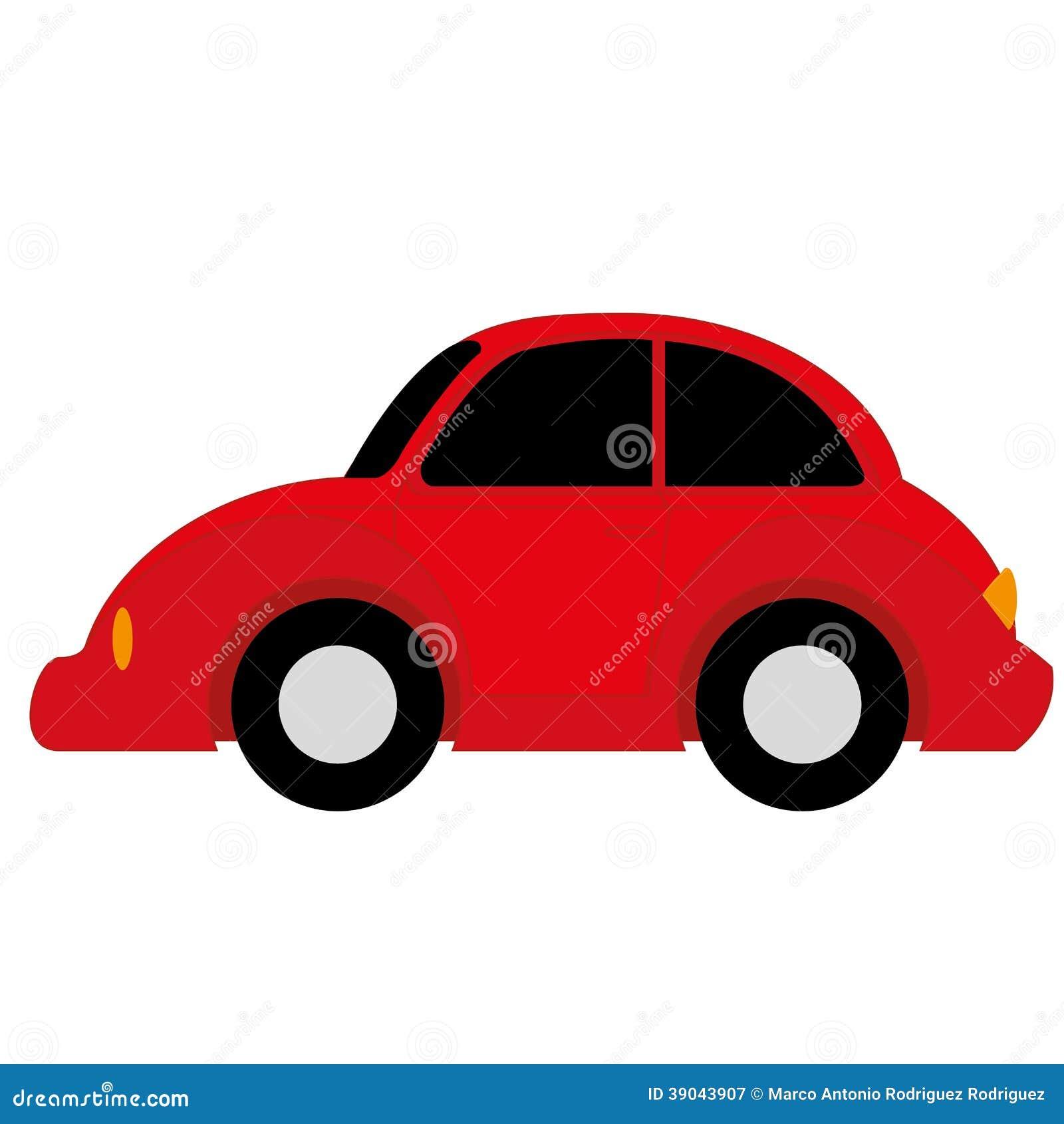 Vector Cartoon Simple Car Stock Vector - Image: 39043907