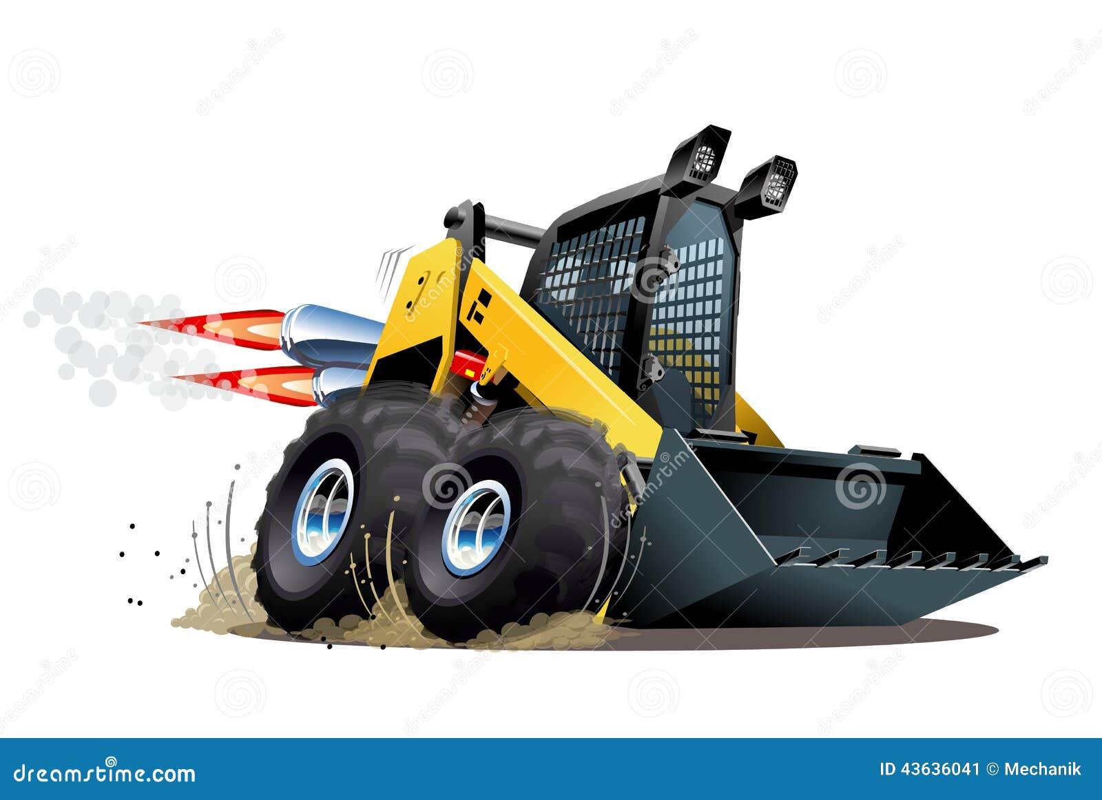 Vector Cartoon Skid Steer stock vector. Illustration of ...