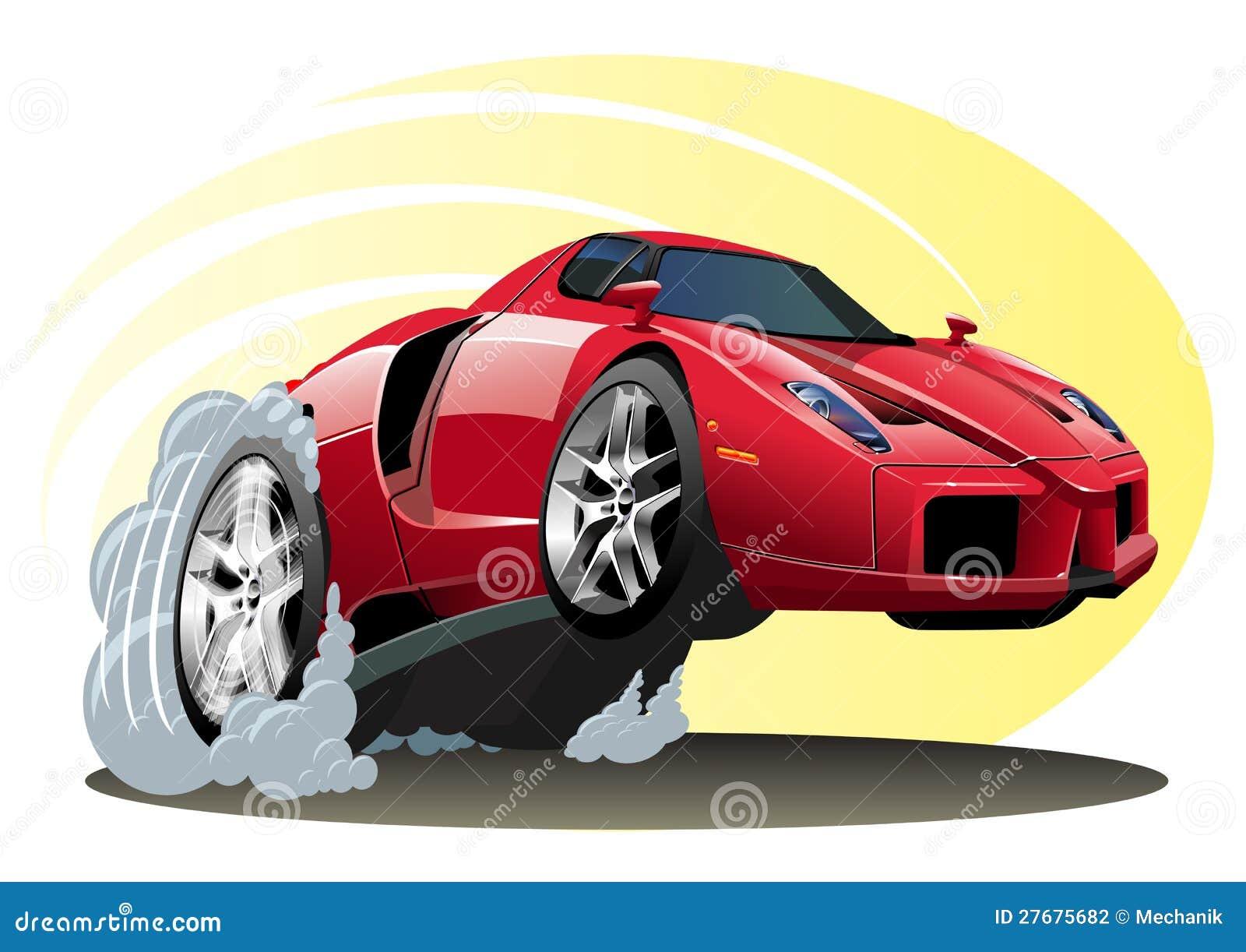 Vector Cartoon Sportcar Editorial Photography Image