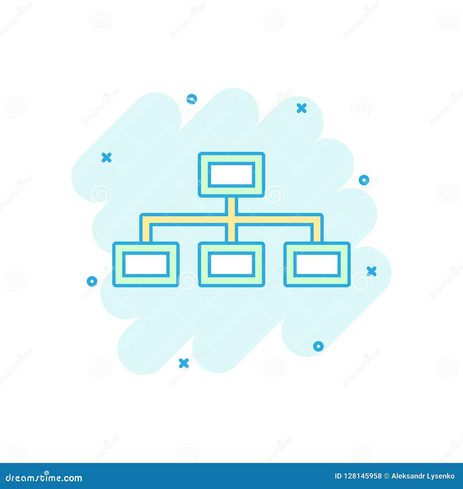 vector cartoon structure diagram icon comic style chart orga organization sign illustration pictogram business splash effect 128145958 cartoon structure diagram just another wiring diagram blog \u2022