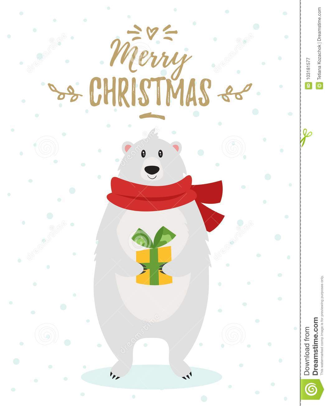 Christmas New Year Greeting Card Stock Vector Illustration Of