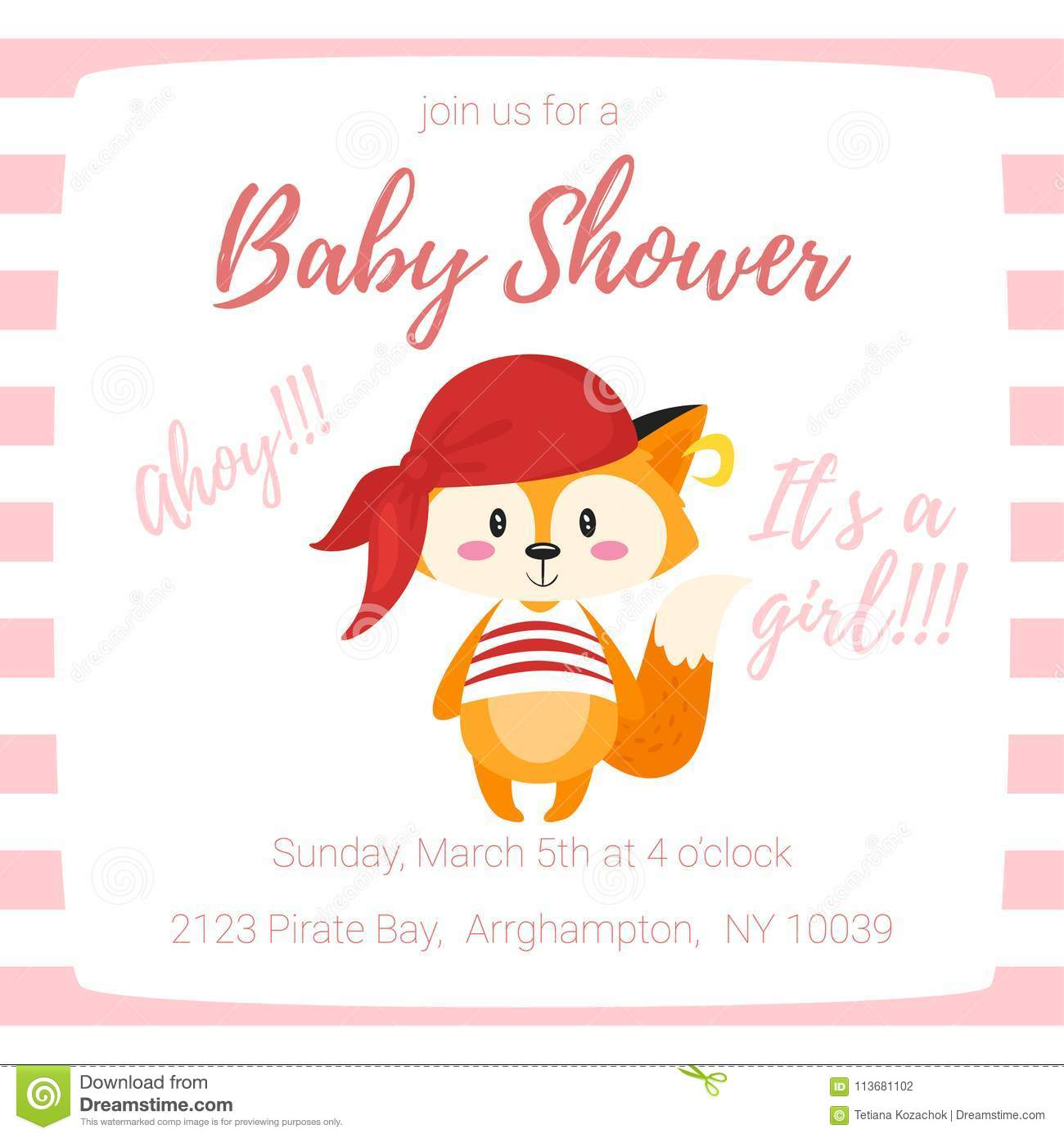 Baby shower invitation stock vector. Illustration of greeting ...