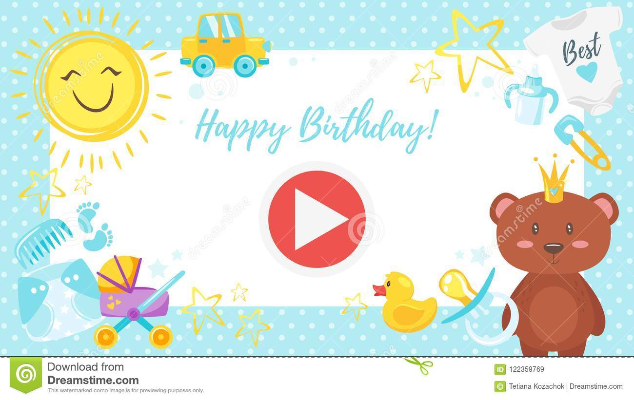 Video And Photo Frame Background Stock Vector - Illustration of baby ...