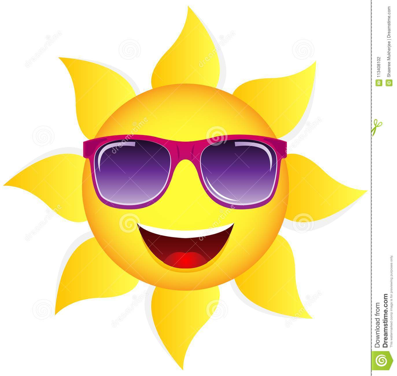 Happy Sun With Glasses